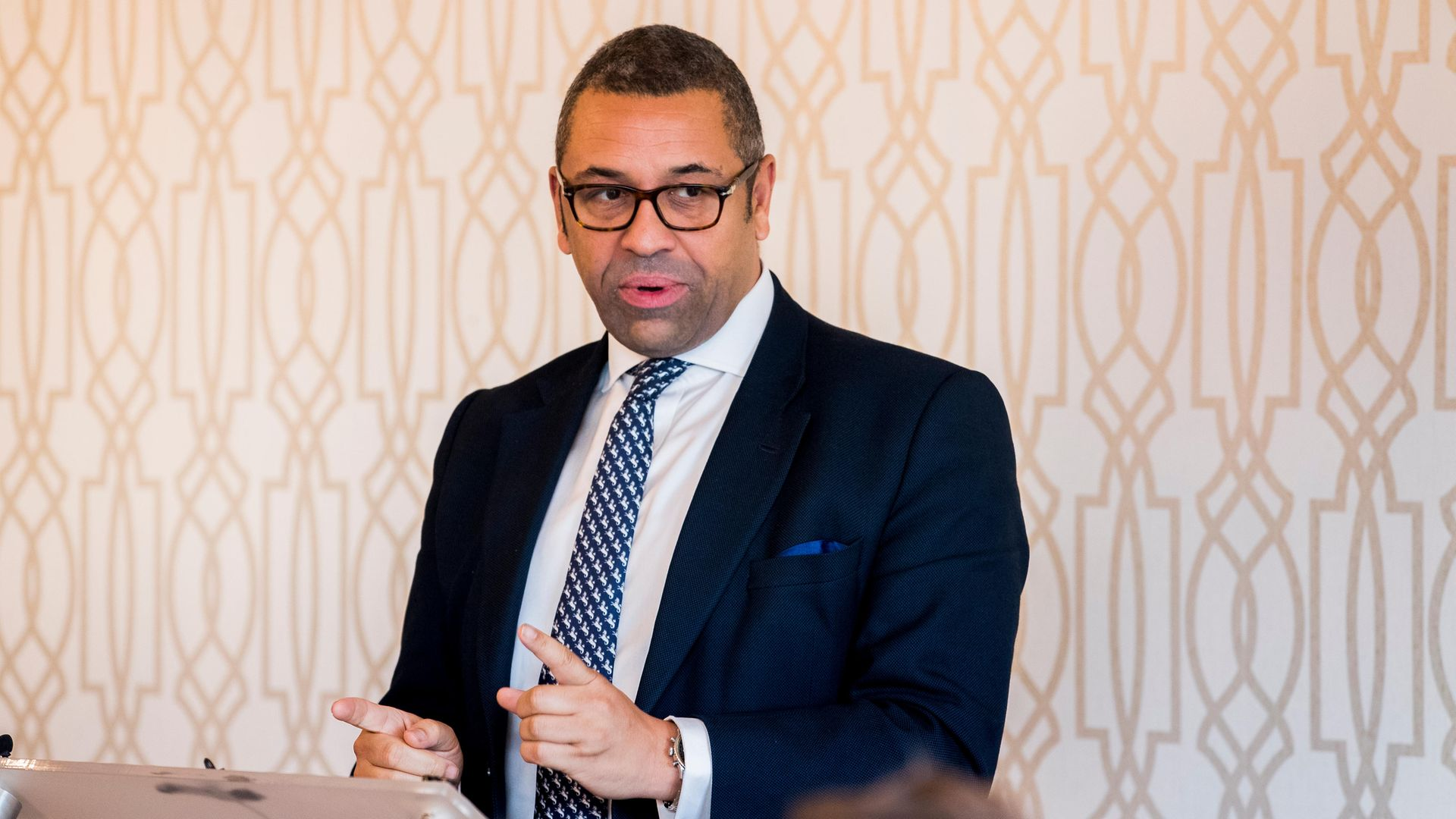 """James Cleverly said the international community is """"pulling together"""" to restore permanent peace in the region - Credit: PA"""