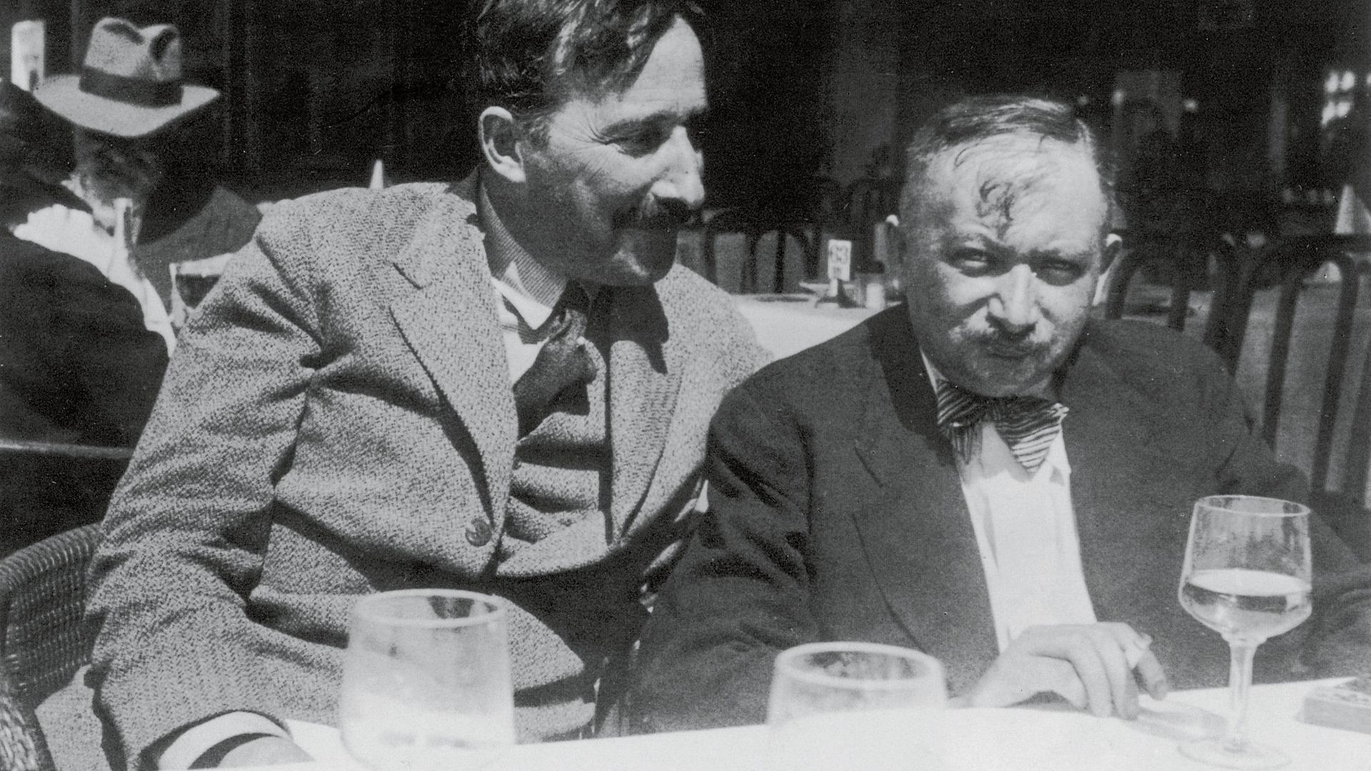 Joseph Roth (right) and Stefan Zweig in Ostende, Belgium, in 1936 - Credit: Getty Images