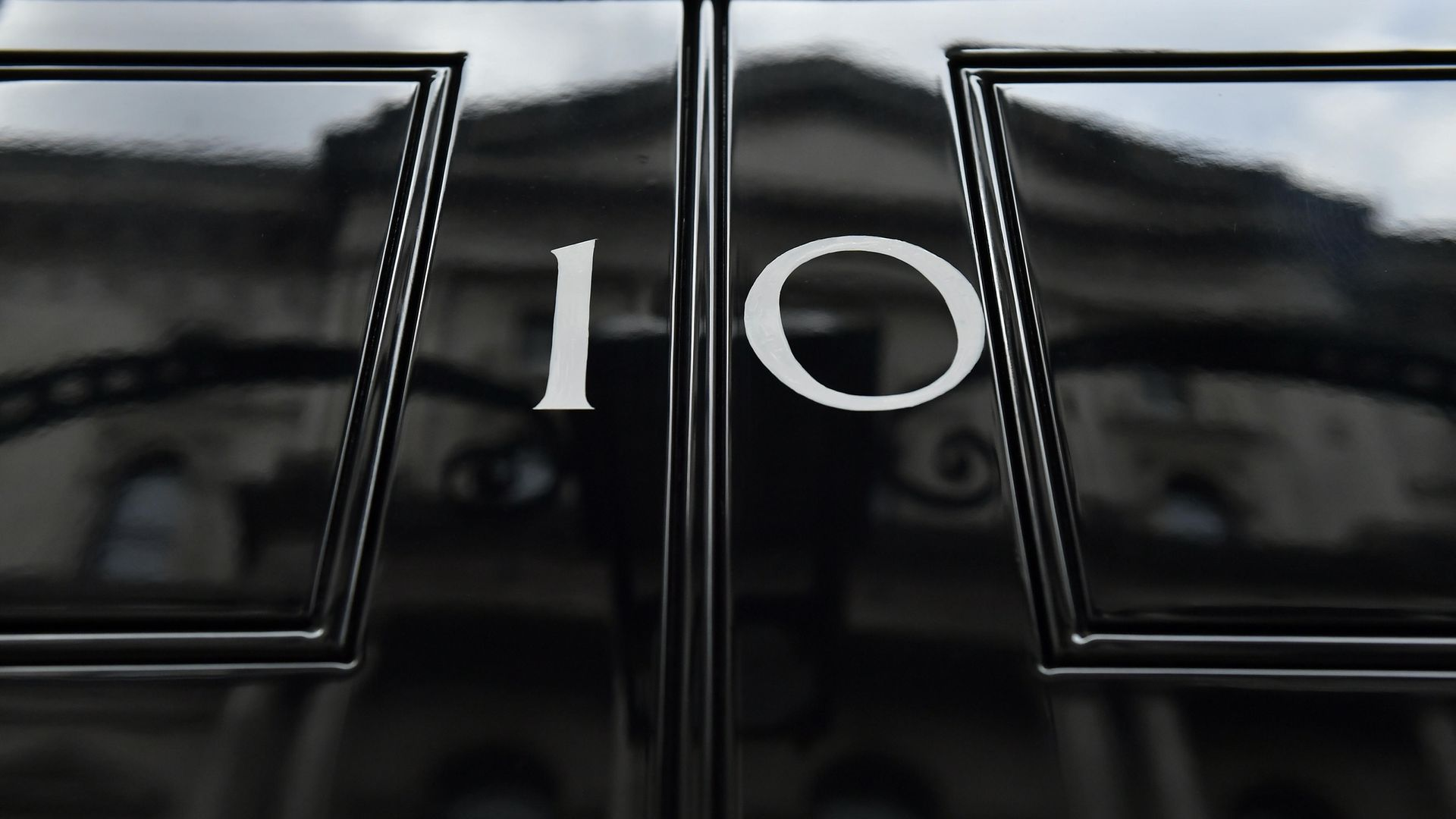 The front door of number 10 Downing Street in London - Credit: PA