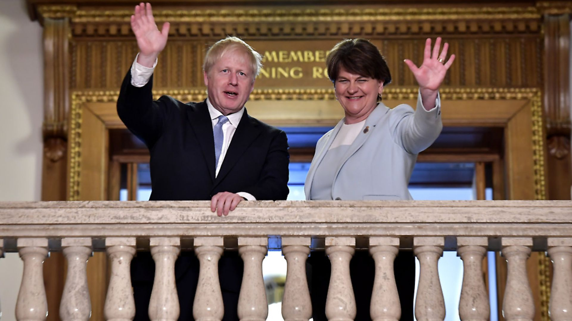 Boris Johnson meets with DUP leader Arlene Foster at Stormont (Photo by Charles McQuillan/Getty Images) - Credit: Getty Images