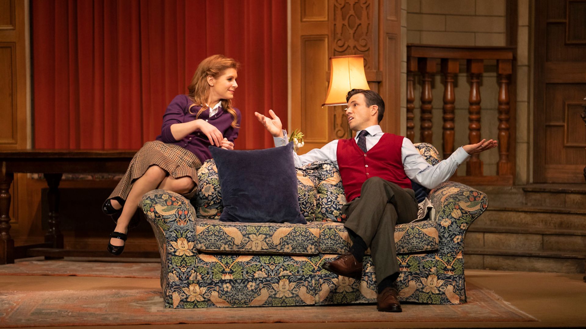 Cassidy Janson and Danny Mac in The Mousetrap - Credit: ©Tristram Kenton