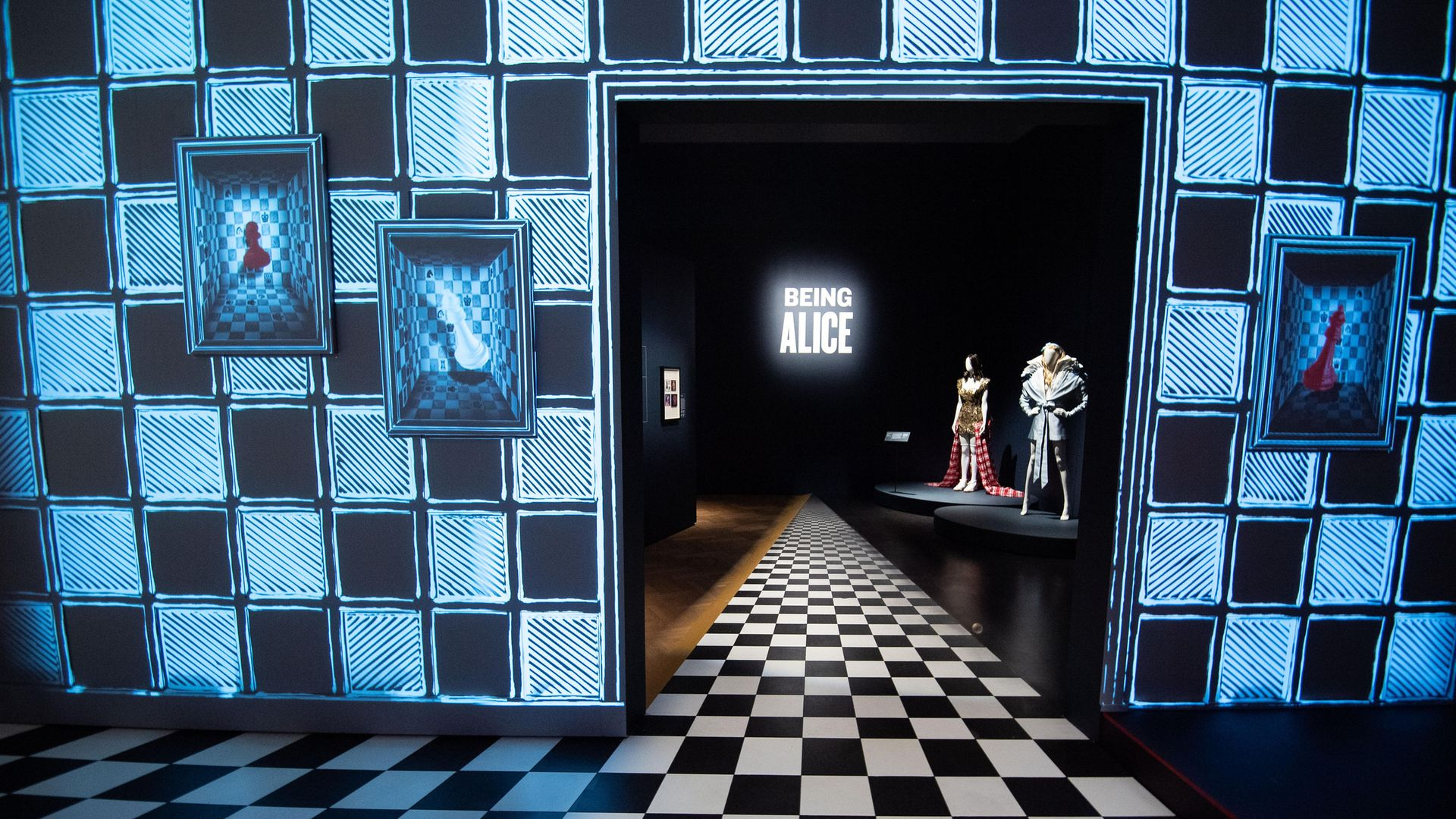 Exhibits on show at the V&A's Alice: Curiouser and Curiouser exhibition - Credit: Getty Images