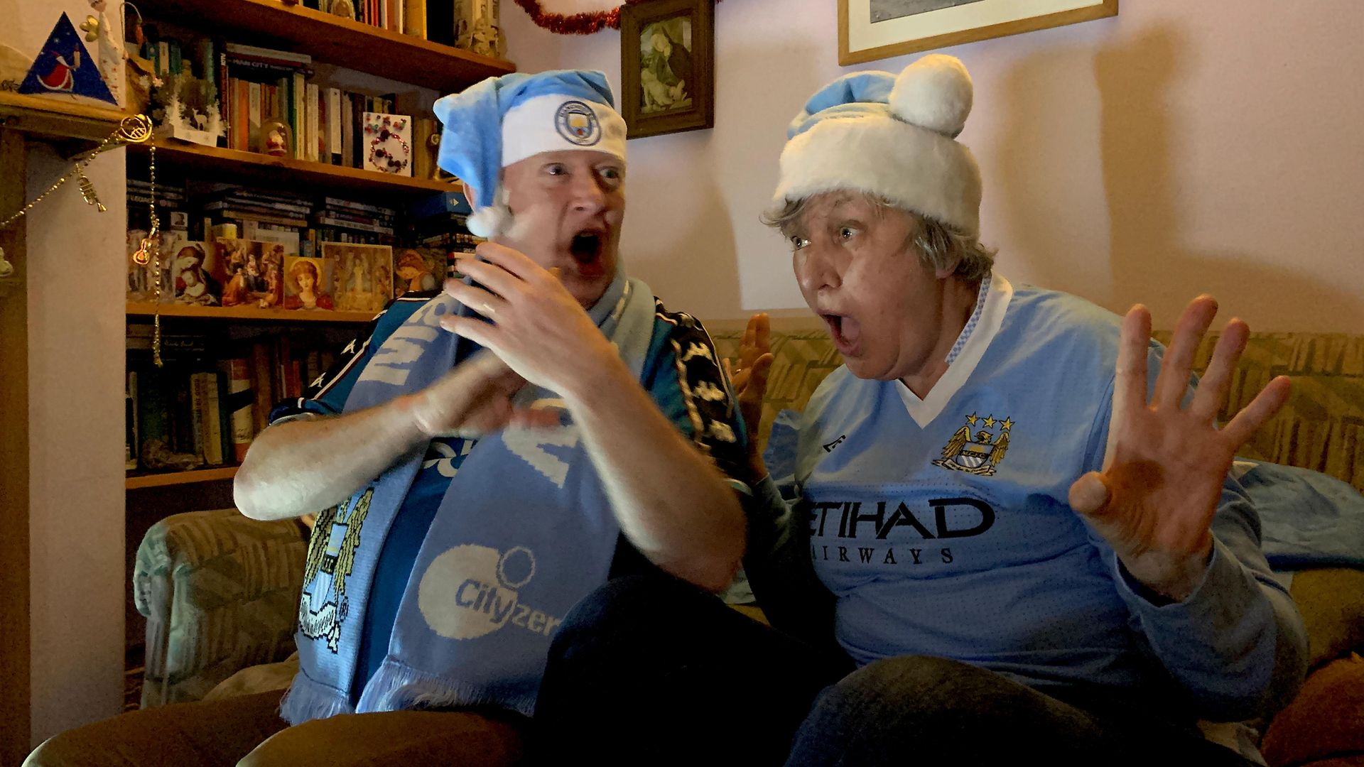 Manchester City fans in Didsbury watch their match against Southampton, December 19 - Credit: Stuart Roy Clarke