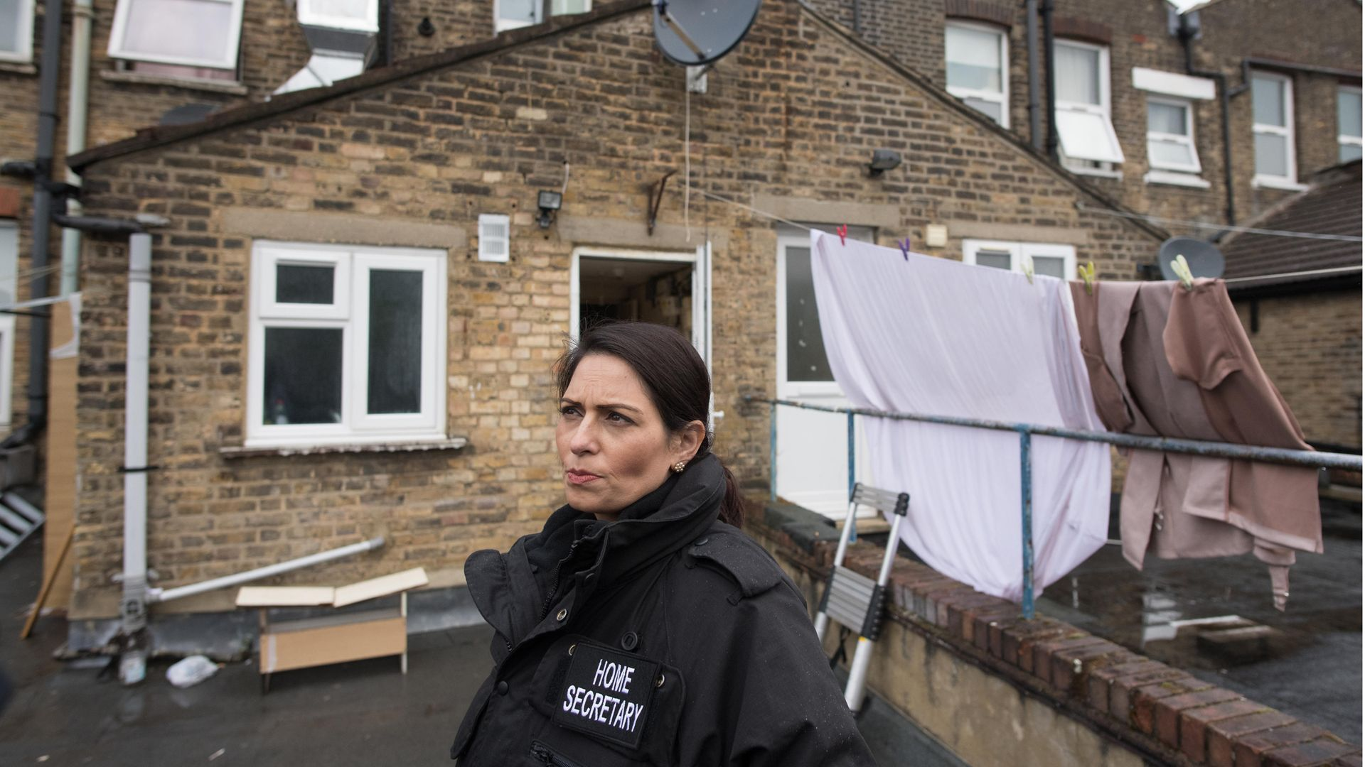Home secretary Priti Patel during a National Crime Agency operation in east London, May 19, 2021 - Credit: Stefan Rousseau/PA Wire/PA Images