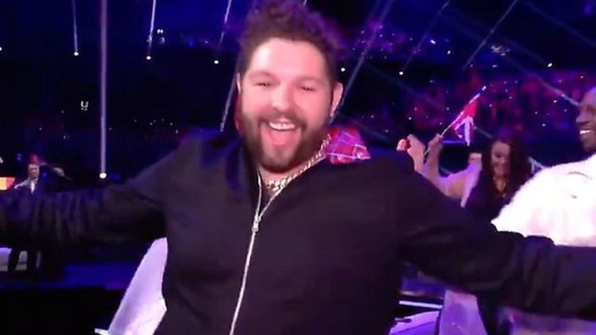 James Newman at the Eurovision Song Contest 2021 - Credit: BBC