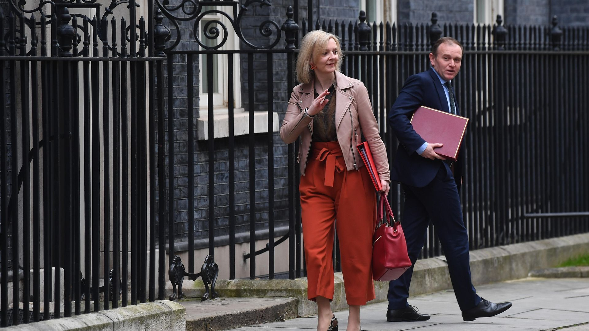 Trade secretary Liz Truss and environment secretary George Eustice in Downing Street - Credit: Victoria Jones/PA Archive/PA Images