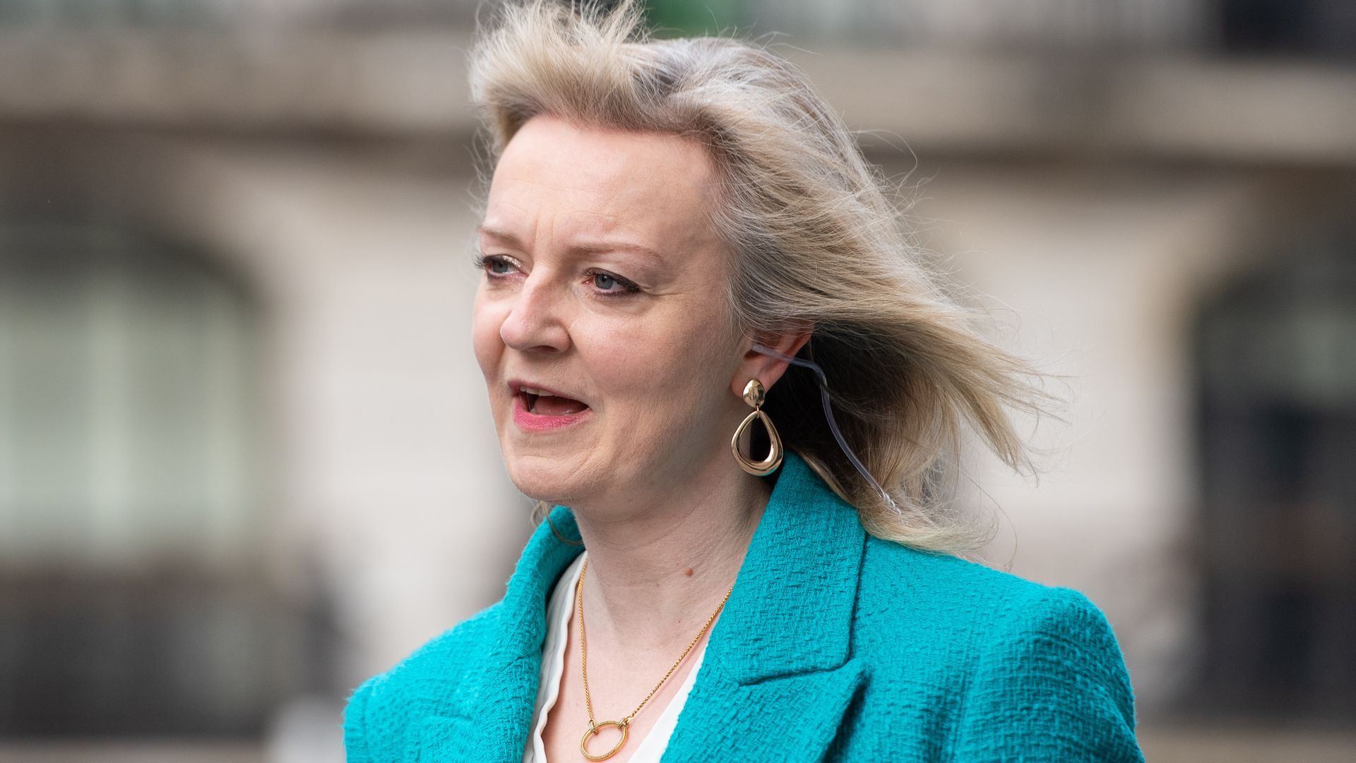 Liz Truss said No 10 would try to undo many of Boris Johnson's Brexit trade deal checks - Credit: PA