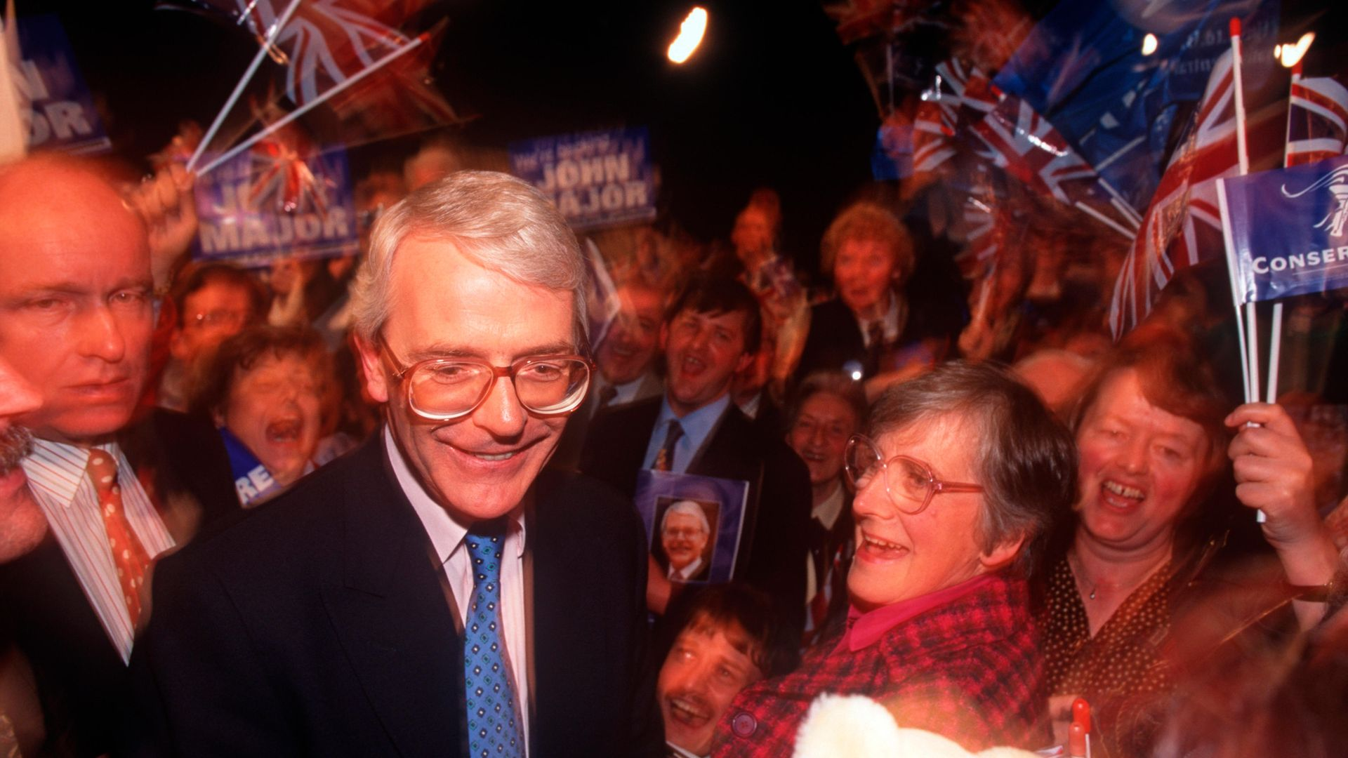 John Major launching the 1992 Conservative manifesto in Brighton - Credit: In Pictures via Getty Images