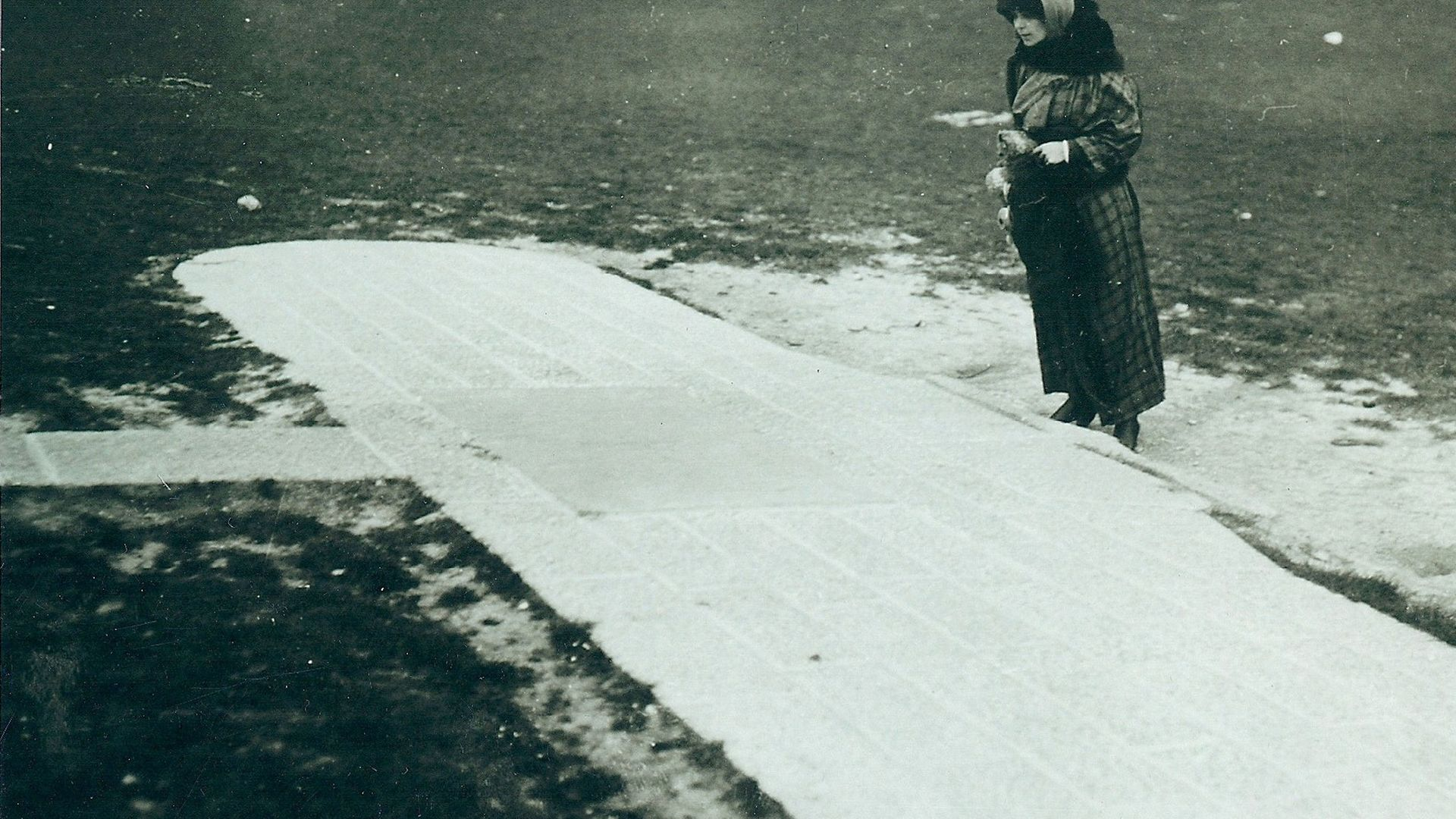 Harriet Quimby, the day before her epic flight of April 16, 1912, at the Blériot Monument - Credit: Giacinta Koontz