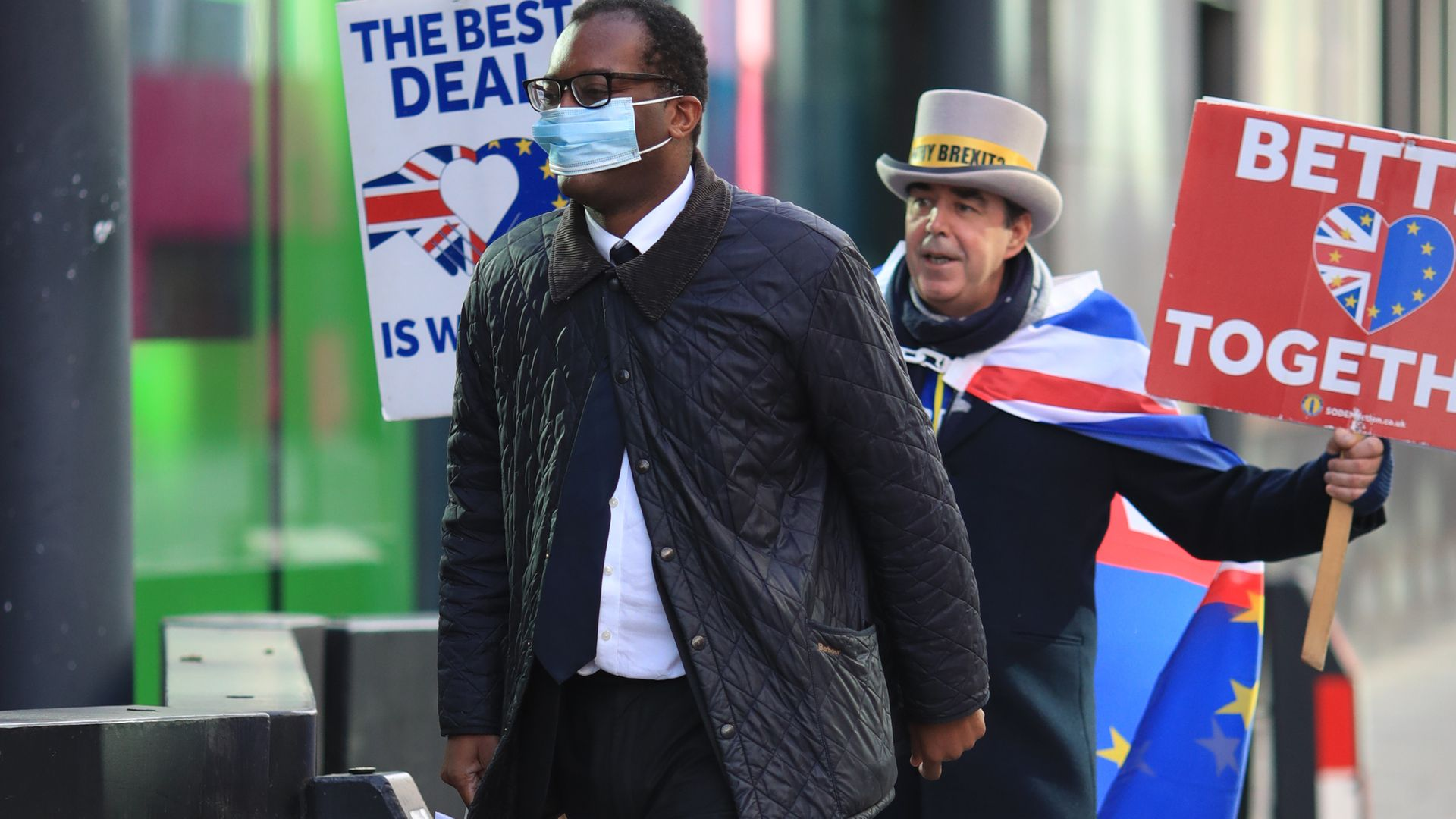 """Business secretary Kwasi Kwarteng admitted that January trade figures were """"exceptionally bad"""" due to Brexit uncertainty - Credit: PA"""