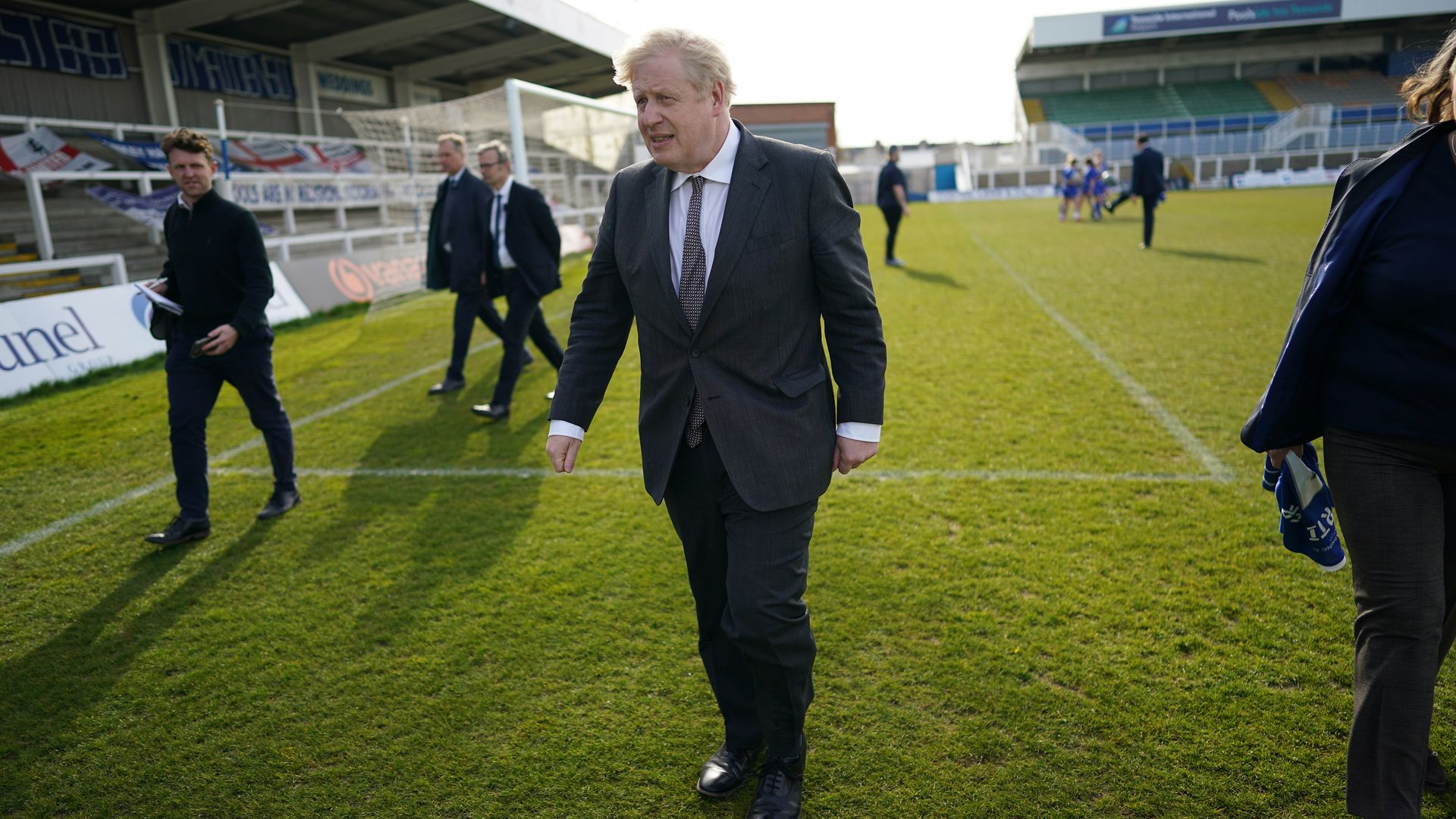 Government insiders claimed Boris Johnson supported plans for a European Super League - Credit: PA