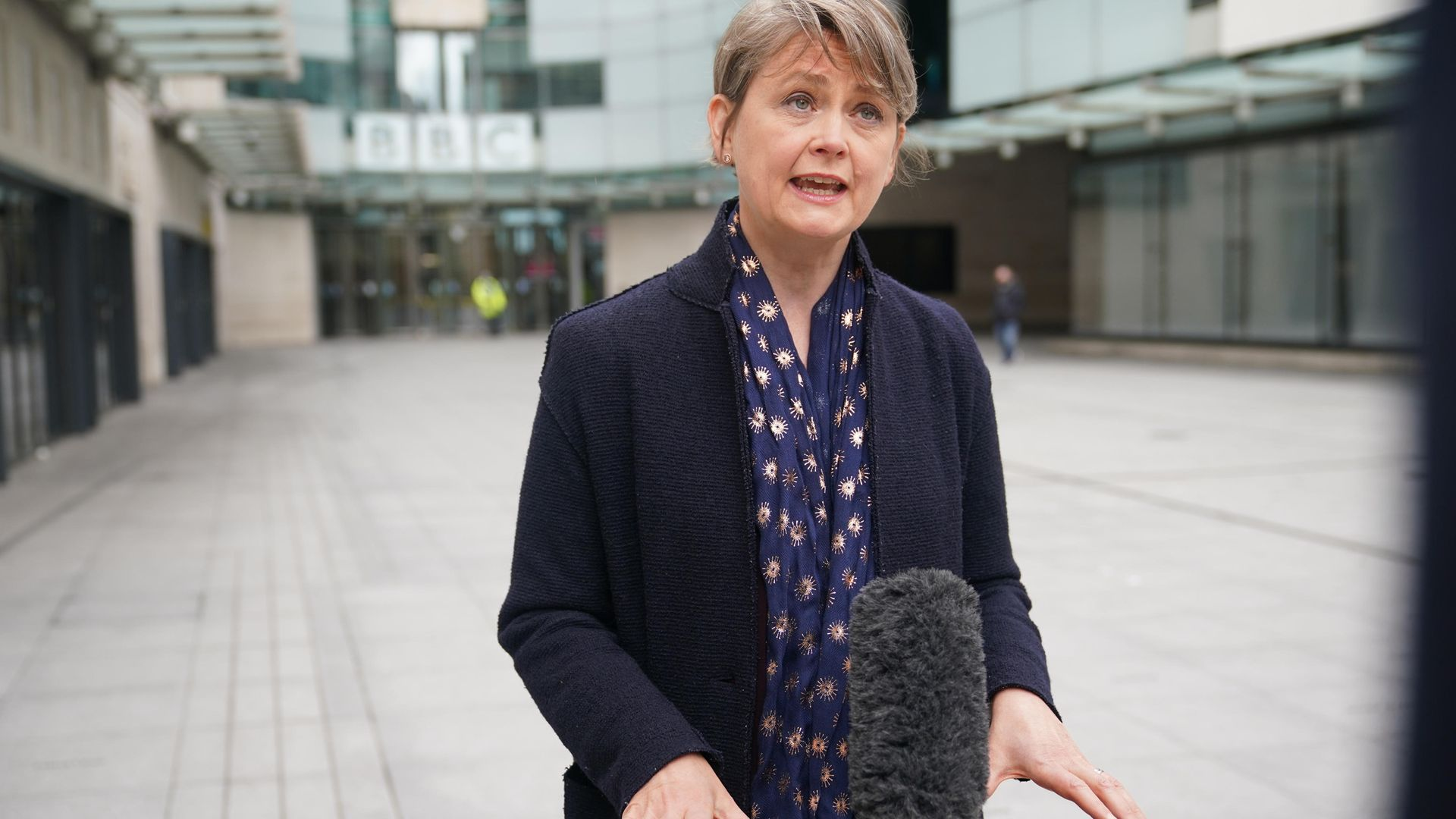 Labour MP and Chair of the Commons Home Affairs Committee Yvette Cooper during an interview outside BBC Broadcasting House - Credit: PA