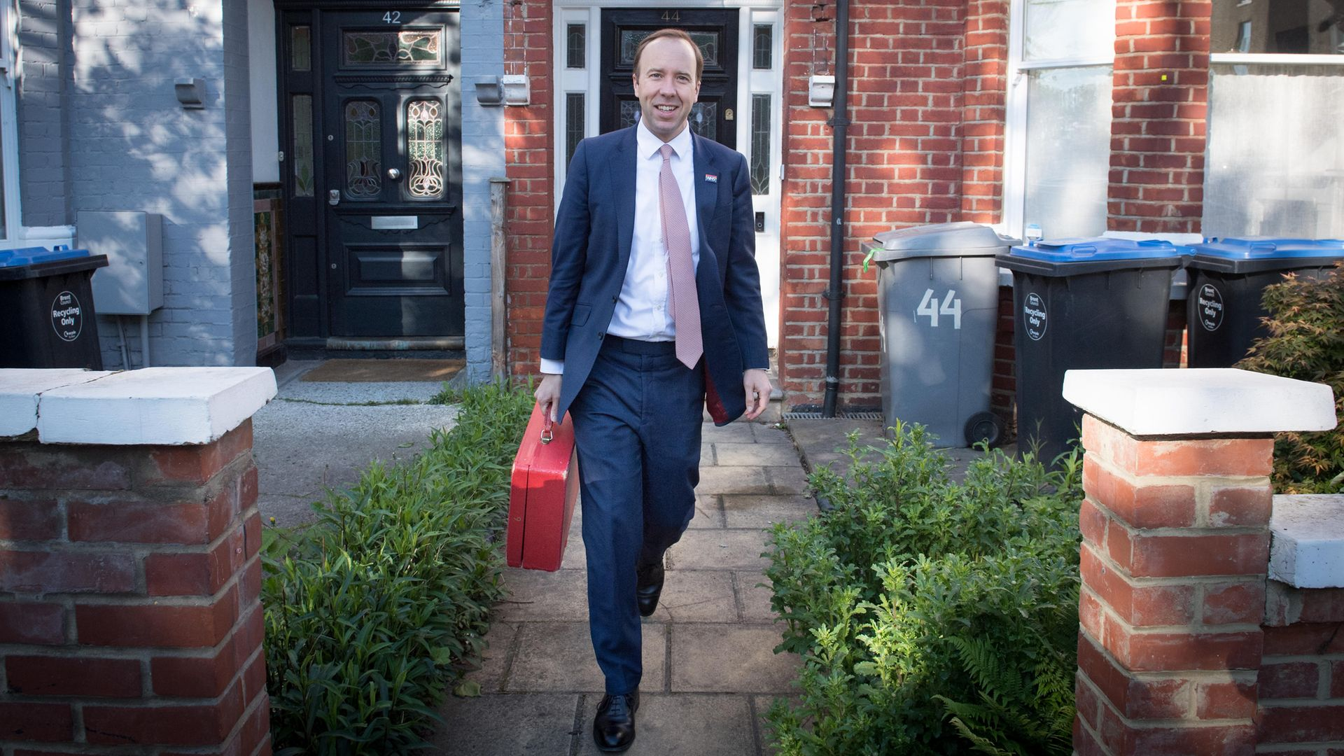 Health Minister Matt Hancock outside his home in north-west London - Credit: PA