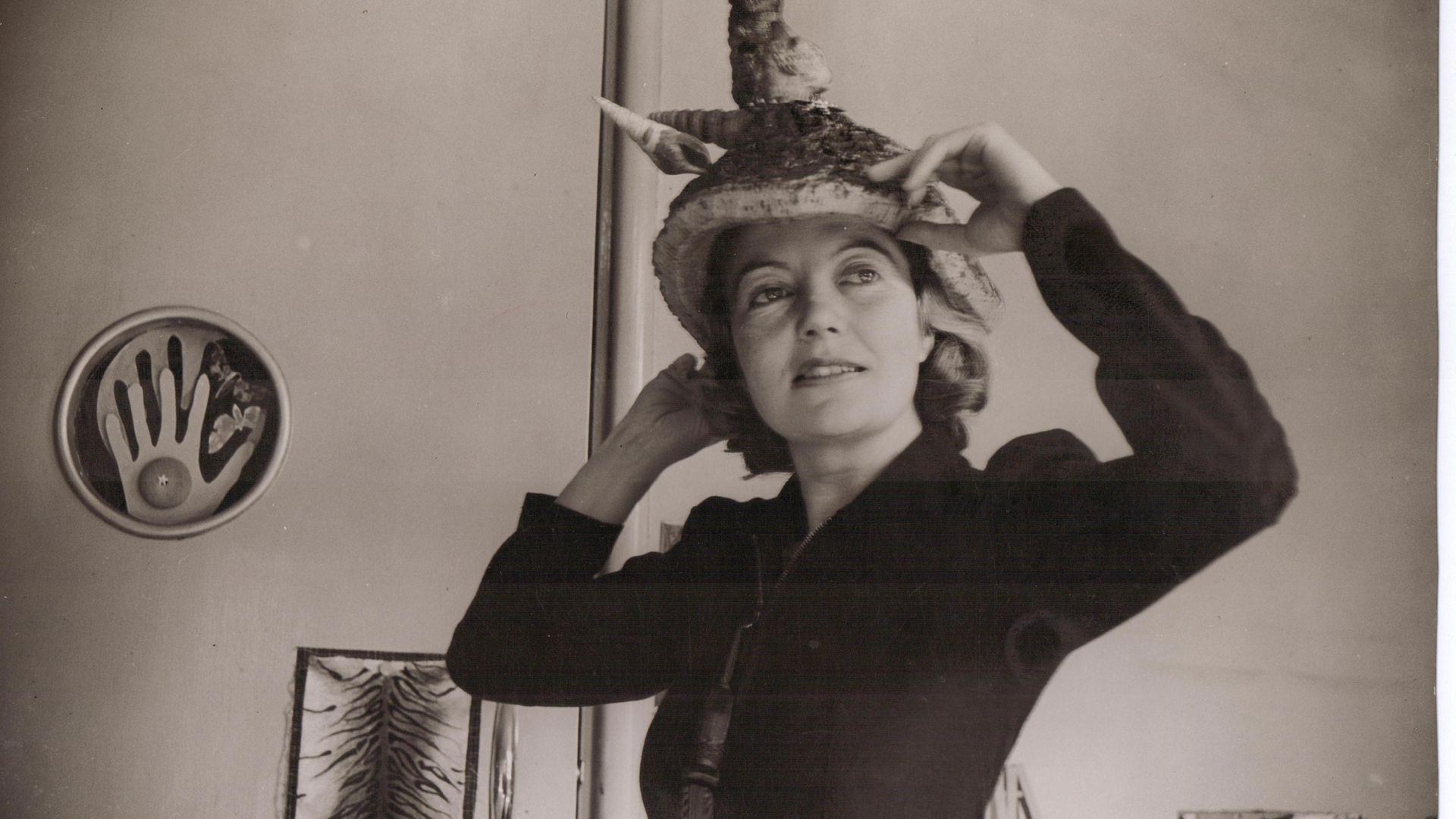 Eileen Agar wearing her Bouillabaisse hat ©Estate of Eileen Agar/Bridgeman Images - Credit: Whitechapel Gallery