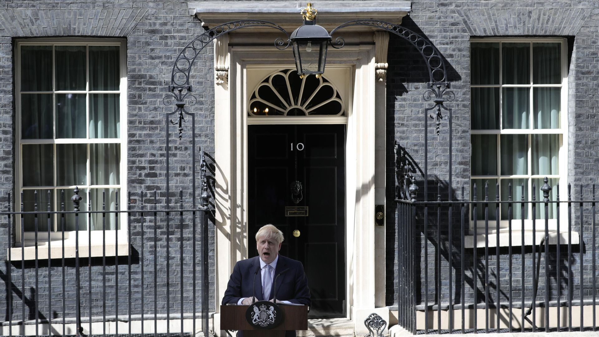 New Prime Minister Boris Johnson makes a speech outside 10 Downing Street - Credit: PA