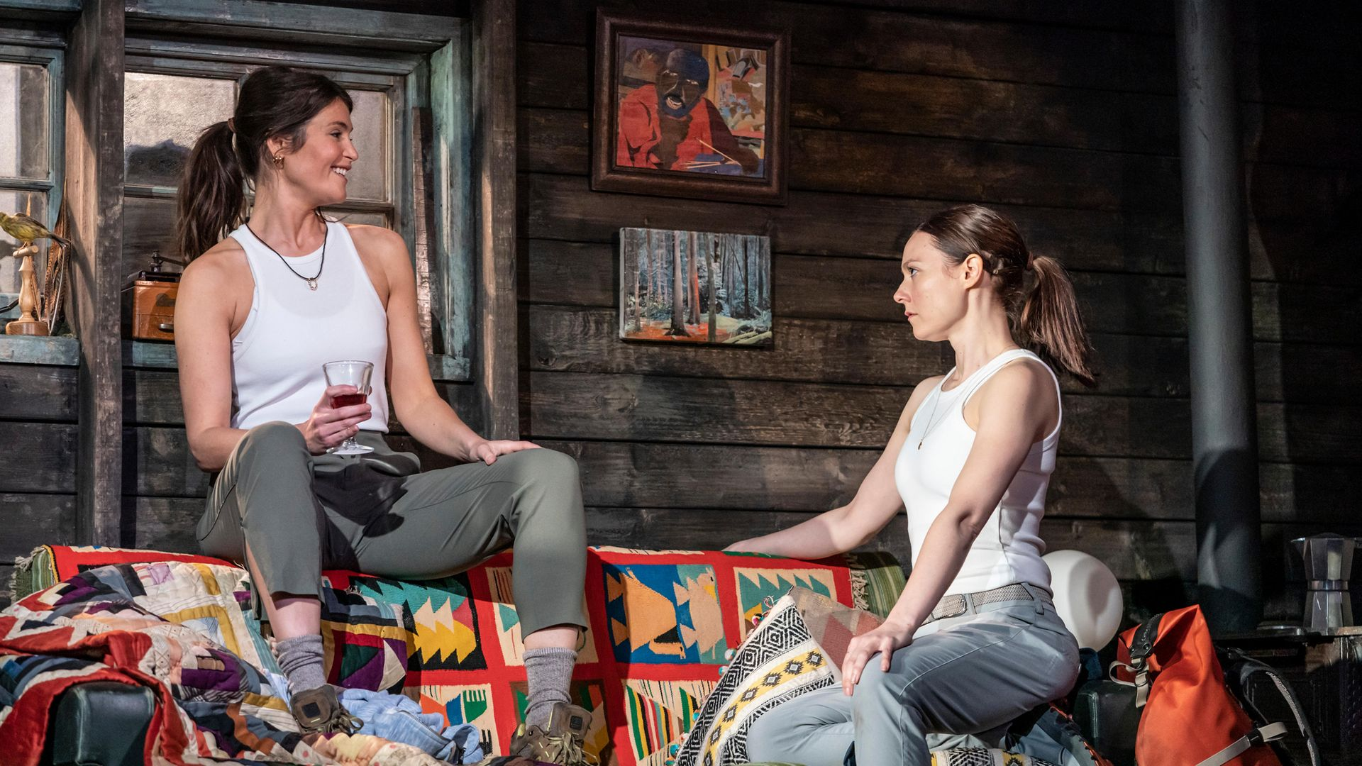 Gemma Arterton (Stella) and Lydia Wilson (Cassie) in Walden - Credit: Johan Persson