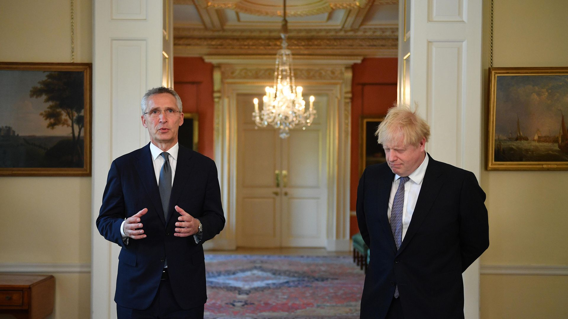 Prime Minister Boris Johnson (right) with Nato Secretary General Jens Stoltenberg in 10 Downing Street - Credit: PA