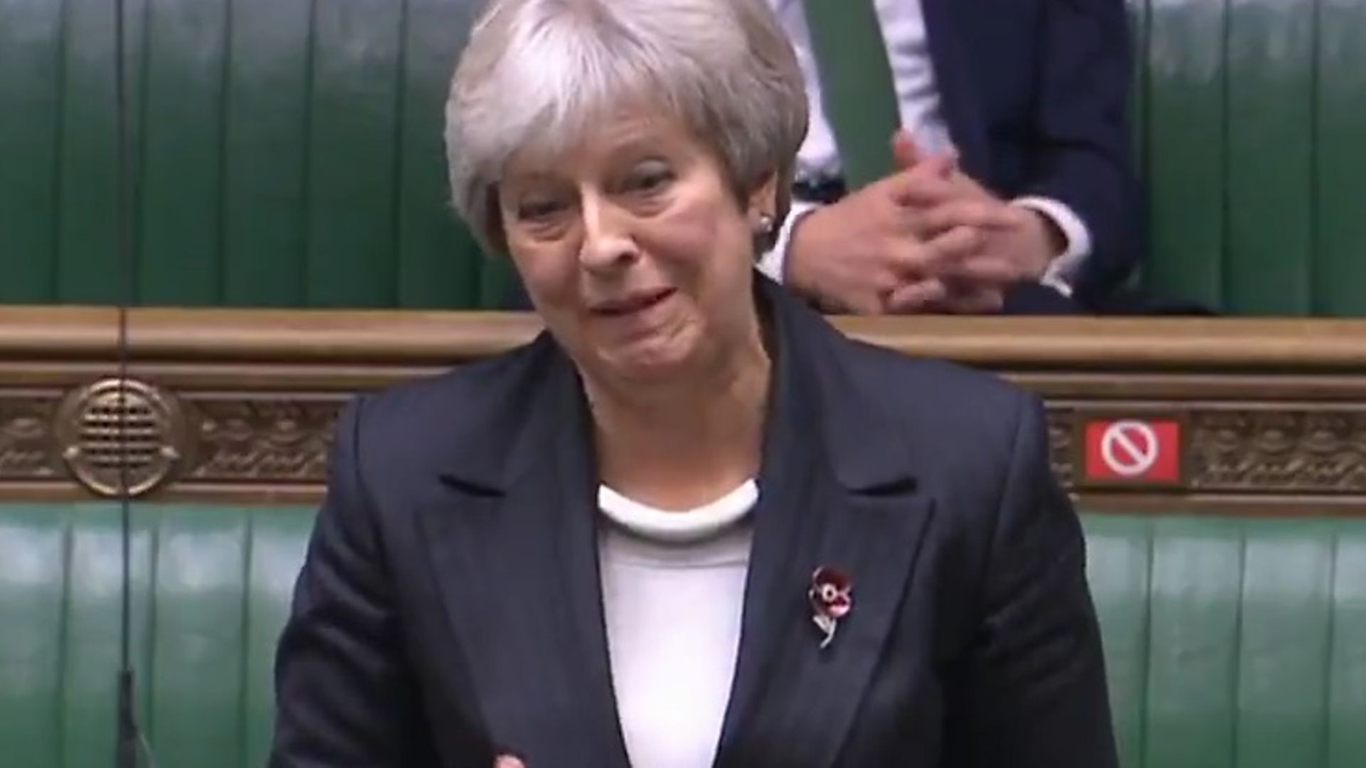 Theresa May in the House of Commons - Credit: Parliament Live