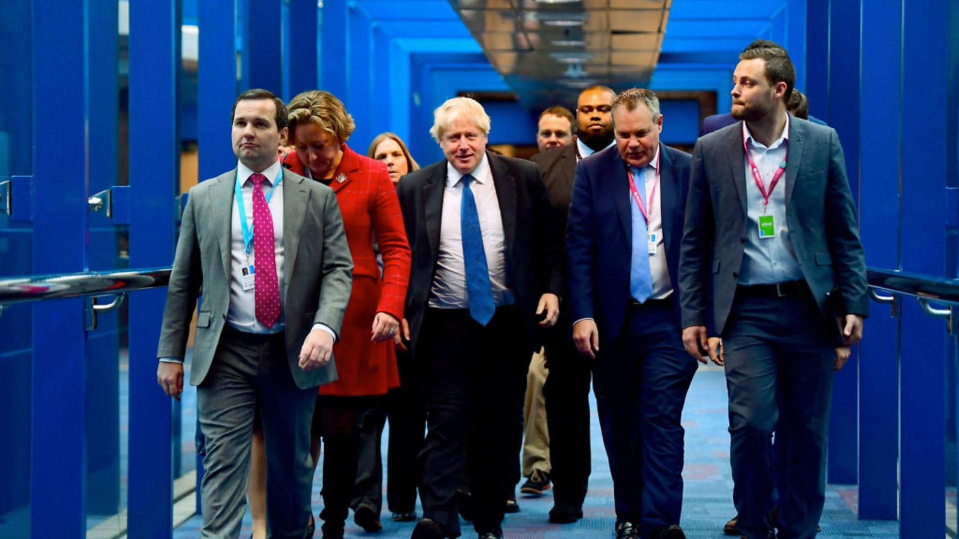 Boris Johnson arrives at Tory Party conference - Credit: PA