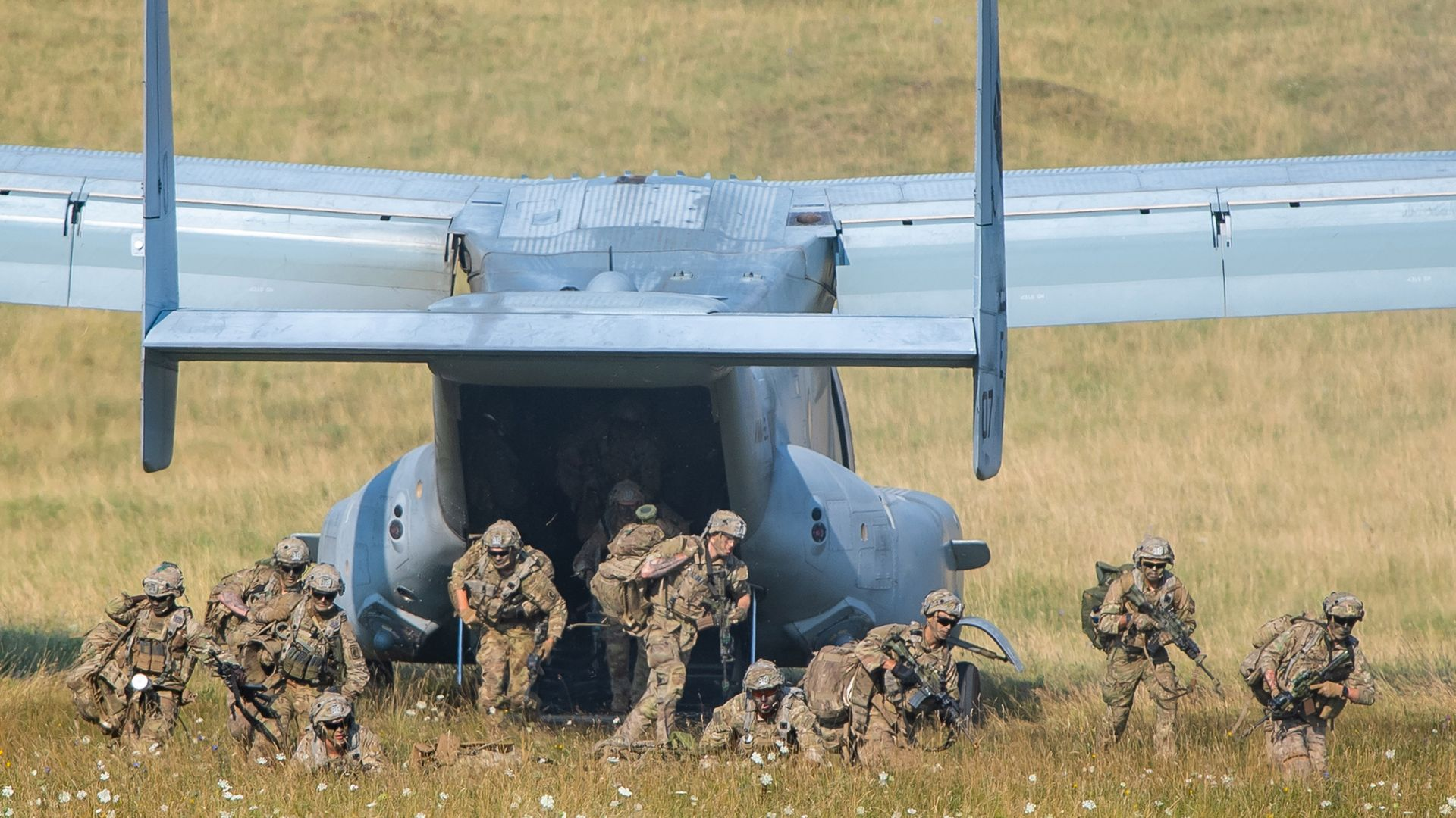 Troops of the U.S. 173rd Airborne Brigade during a training exercise in 2020 - Credit: Photo by Lennart Preiss/Getty Images