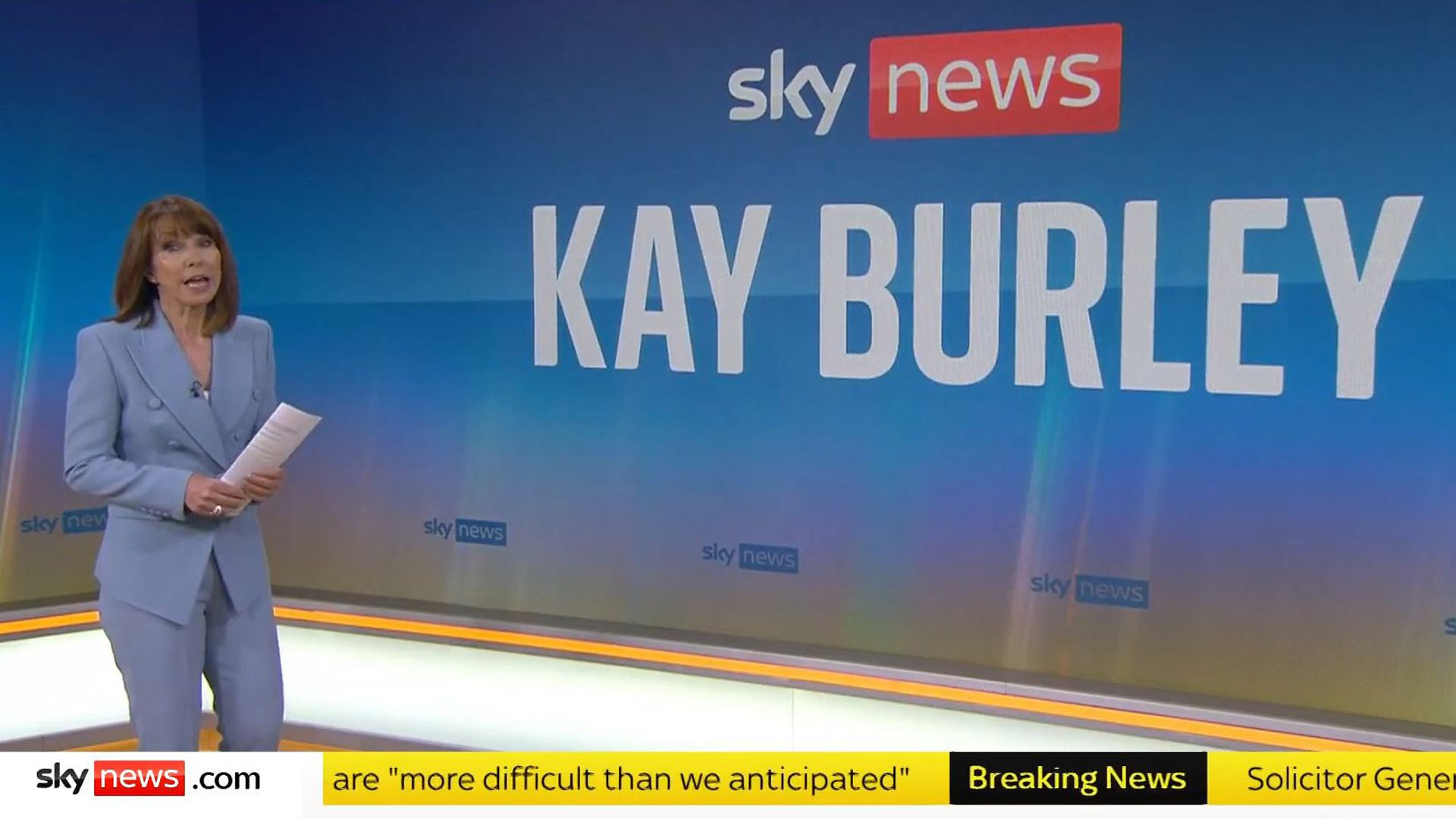 Presenter Kay Burley has returned to work after being suspended for six months for breaking Covid-19 rules - Credit: PA