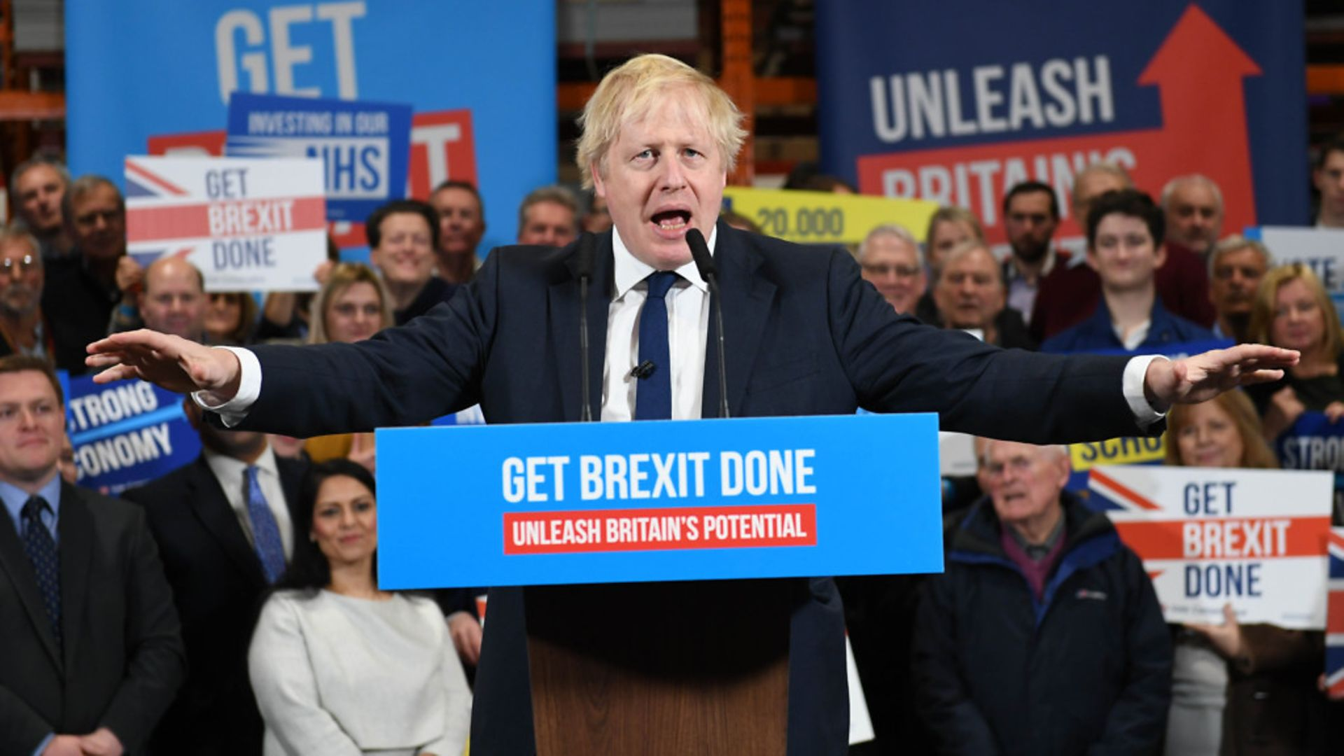 Boris Johnson during the election campaign - Credit: PA Wire/PA Images