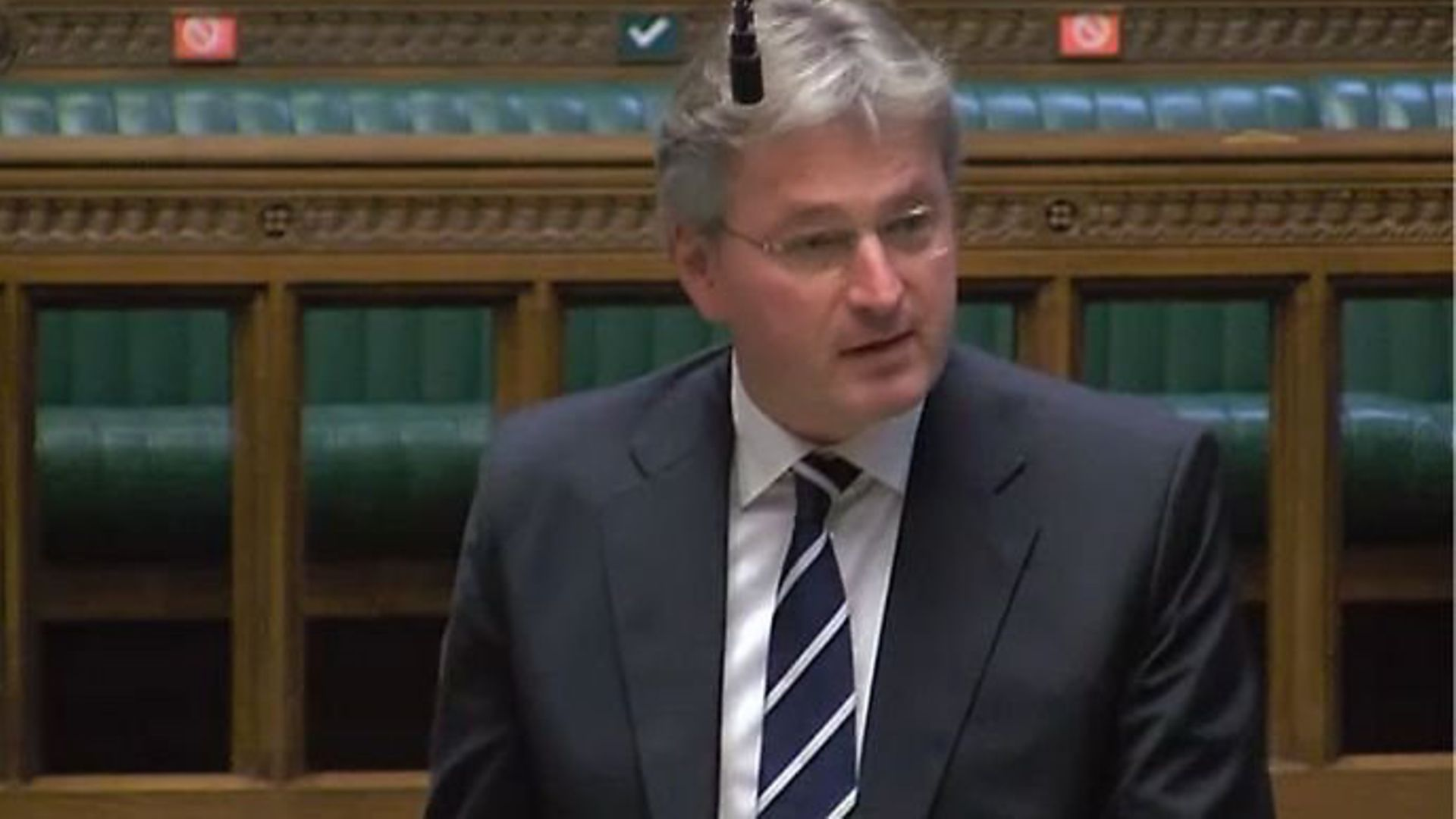 Pro-Brexit Tory MP Daniel Kawczynski in the House of Commons - Credit: Parliament TV