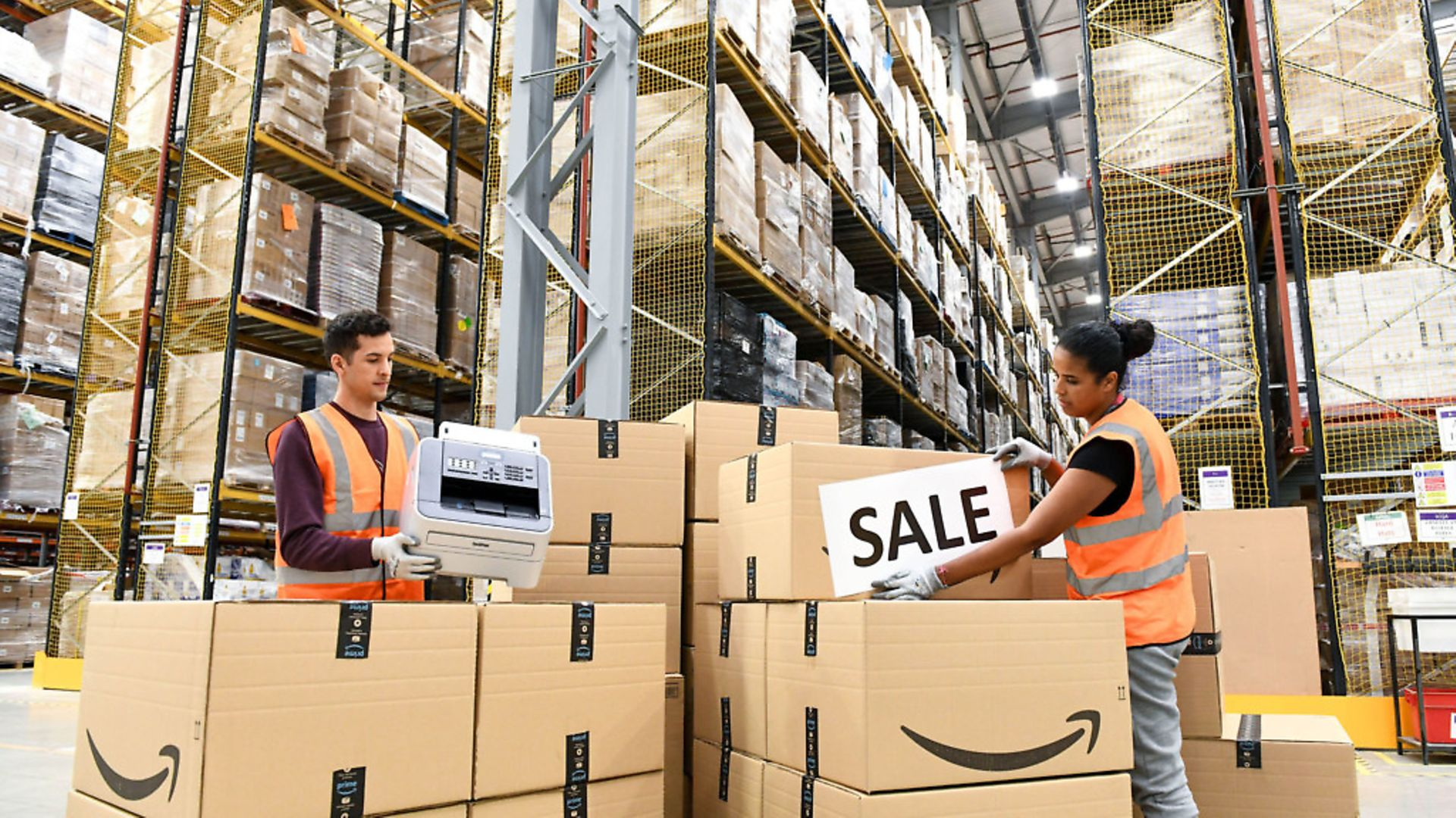 Staff at the Amazon Fulfilment Centre in Peterborough. Photograph: Doug Peters/PA. - Credit: PA