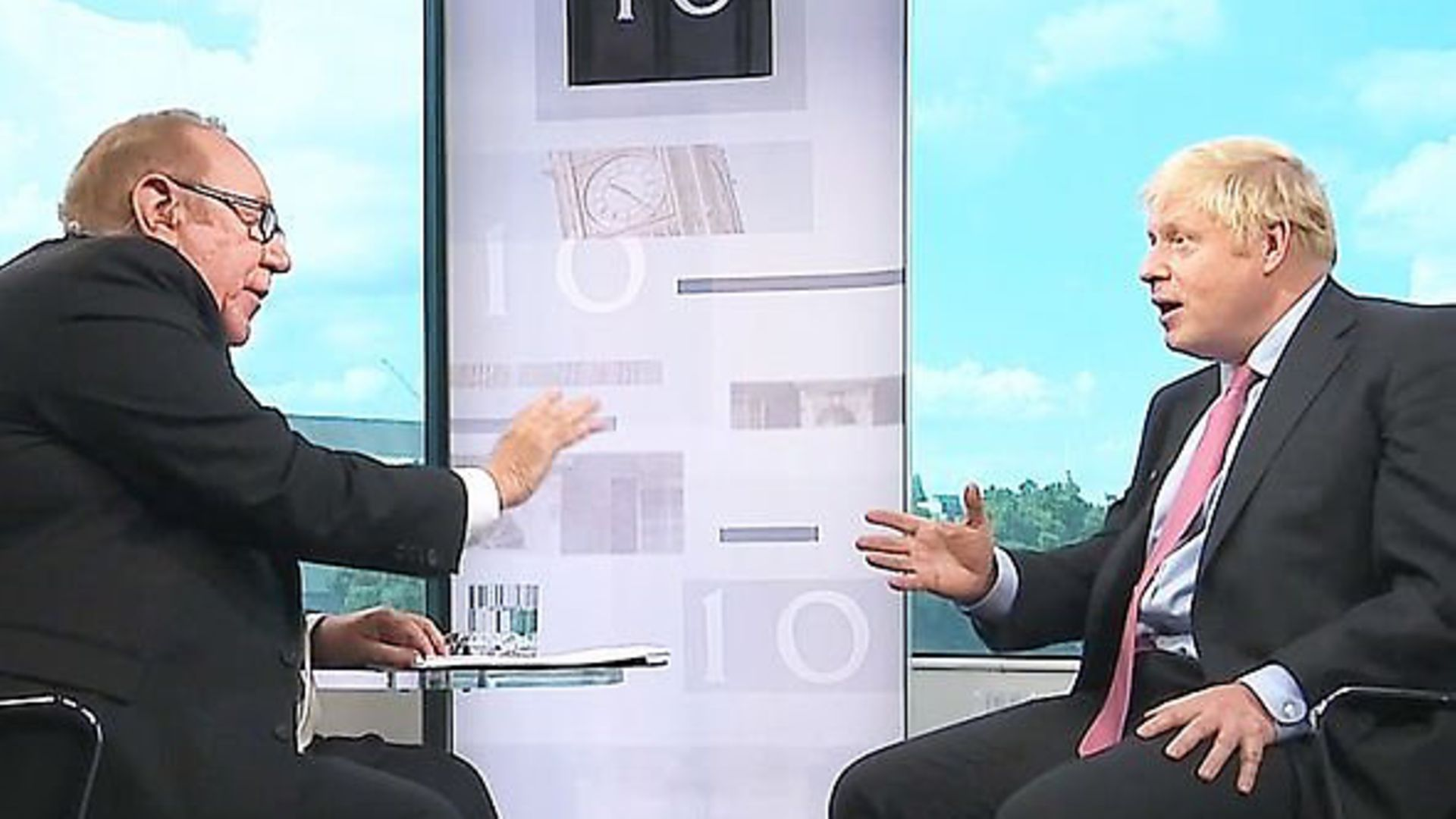Boris Johnson is interviewed by Andrew Neil. - Credit: BBC