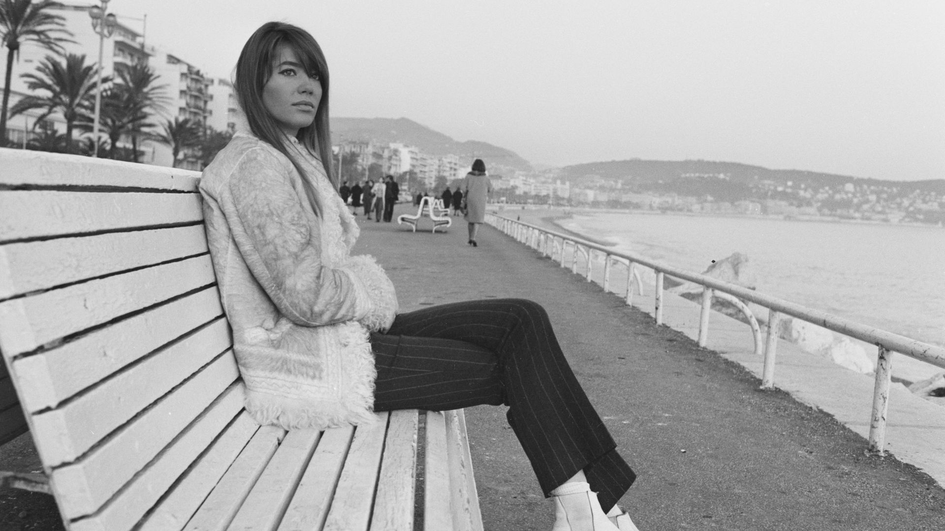 Francoise Hardy in Nice, in 1966 - Credit: Gamma-Rapho via Getty Images