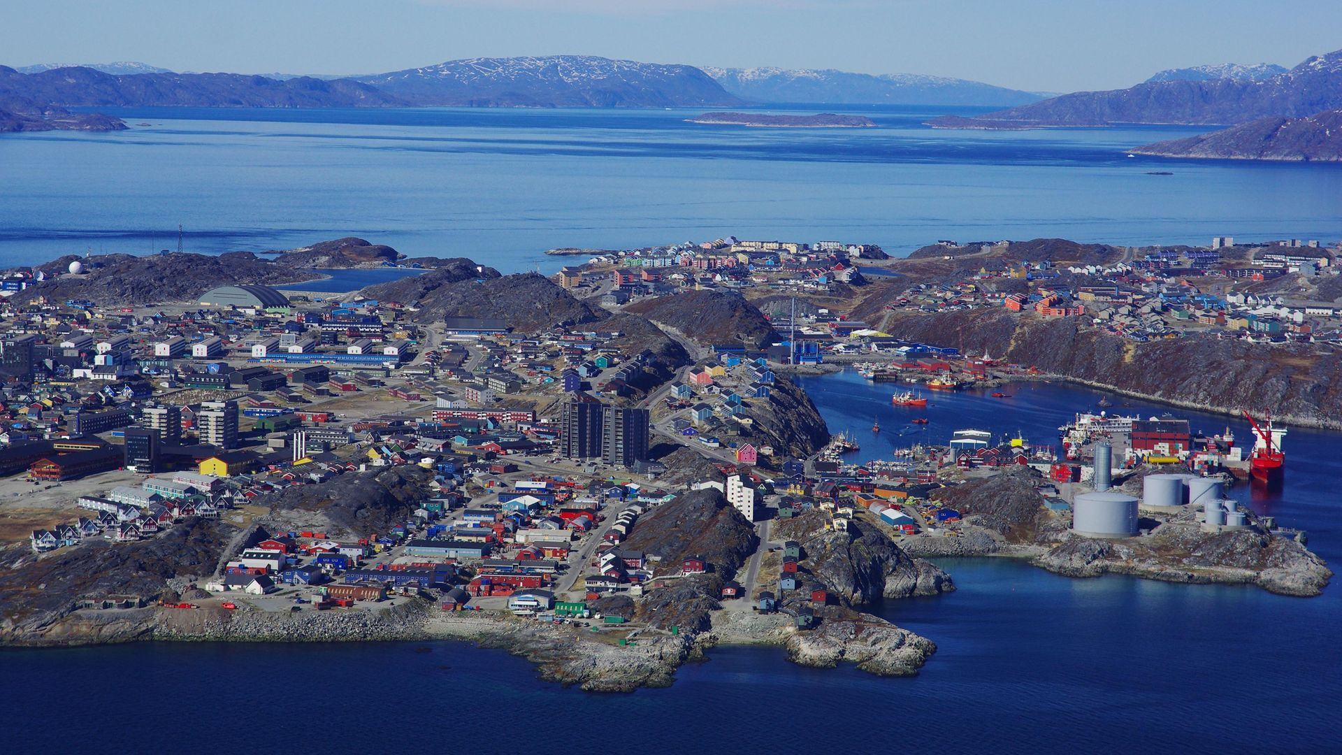 An aerial view of Nuuk, capital of Greenland - Credit: Gamma-Rapho via Getty Images