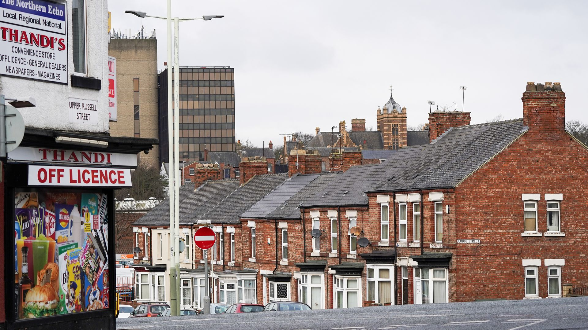 Not on the level: a hill in Darlington, where the Treasury is opening a new site as part of the government's 'levelling-up' agenda - Credit: Getty Images
