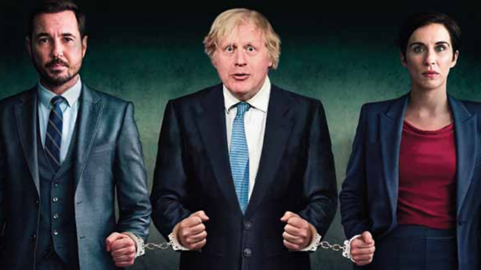 Boris Johnson meets AC-12 in a Line of Duty mock-up for The New European - Credit: The New European