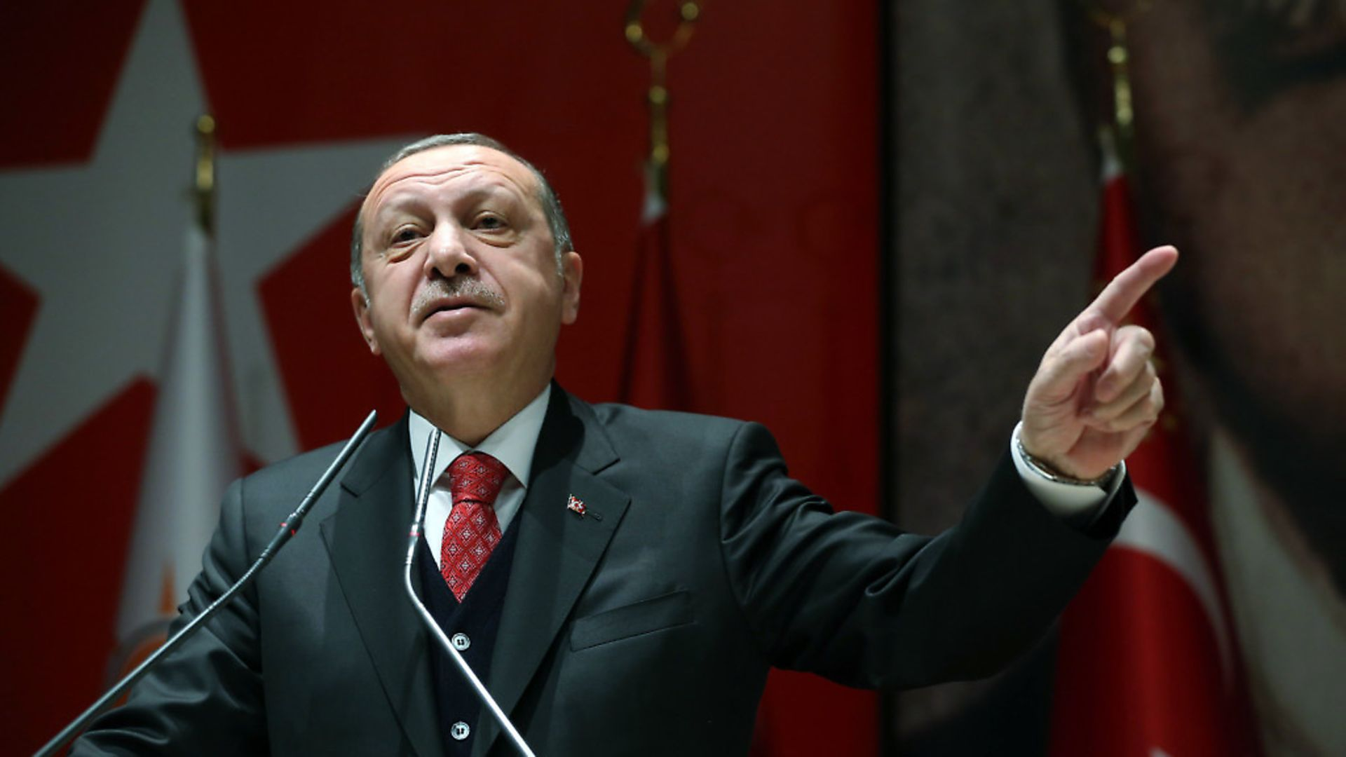 Turkish president Recep Tayyip Erdogan (question eight) Credit: Newscom/Cover Images - Credit: Newscom/Cover Images