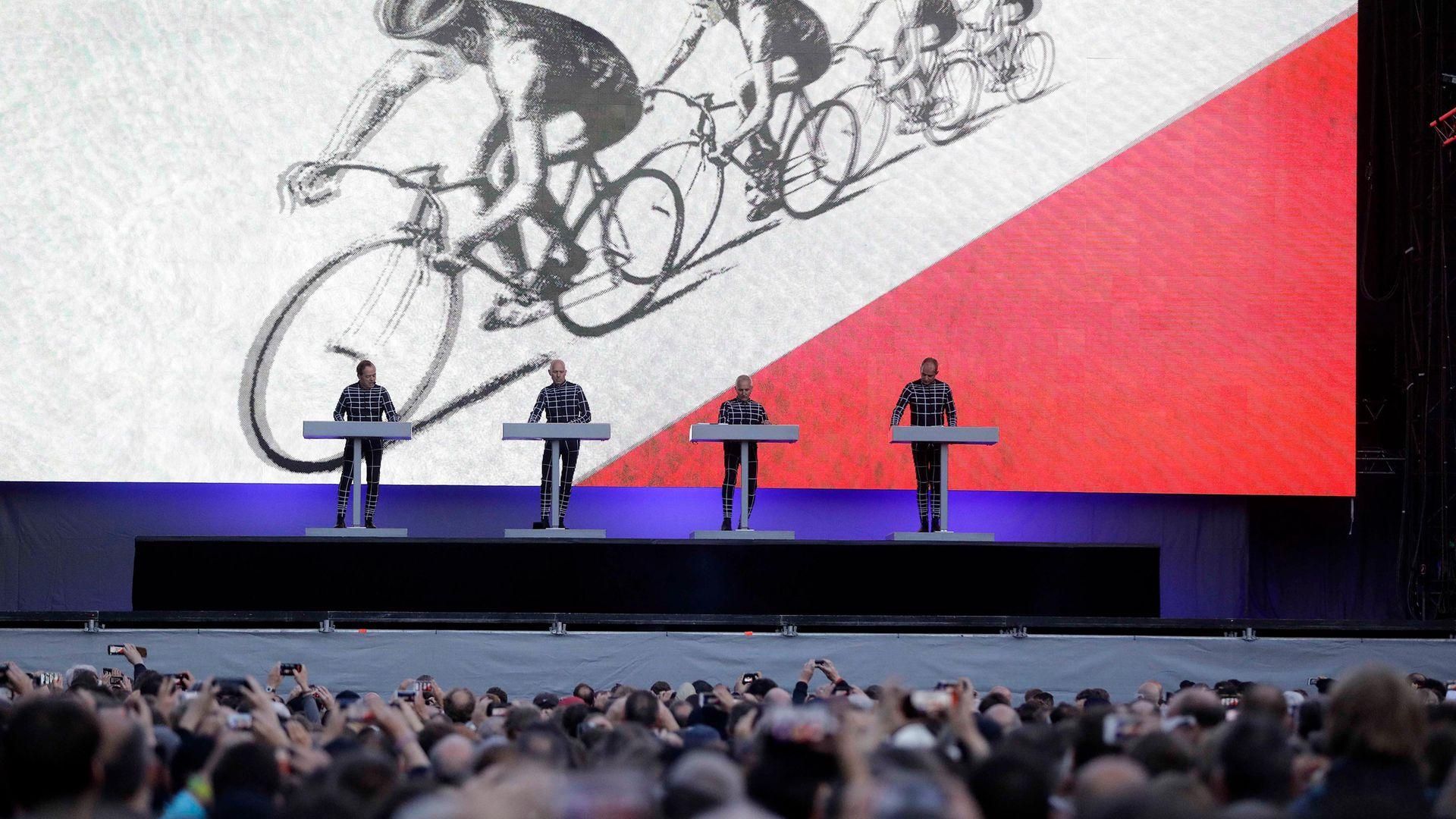 Kraftwerk performing in Düsseldorf in 2017 - Credit: ullstein bild via Getty Images