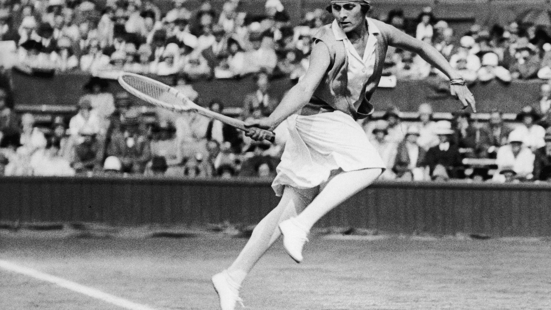 Lili Alvarez at the 1926 Wimbledon championships, 1926 - Credit: Getty Images