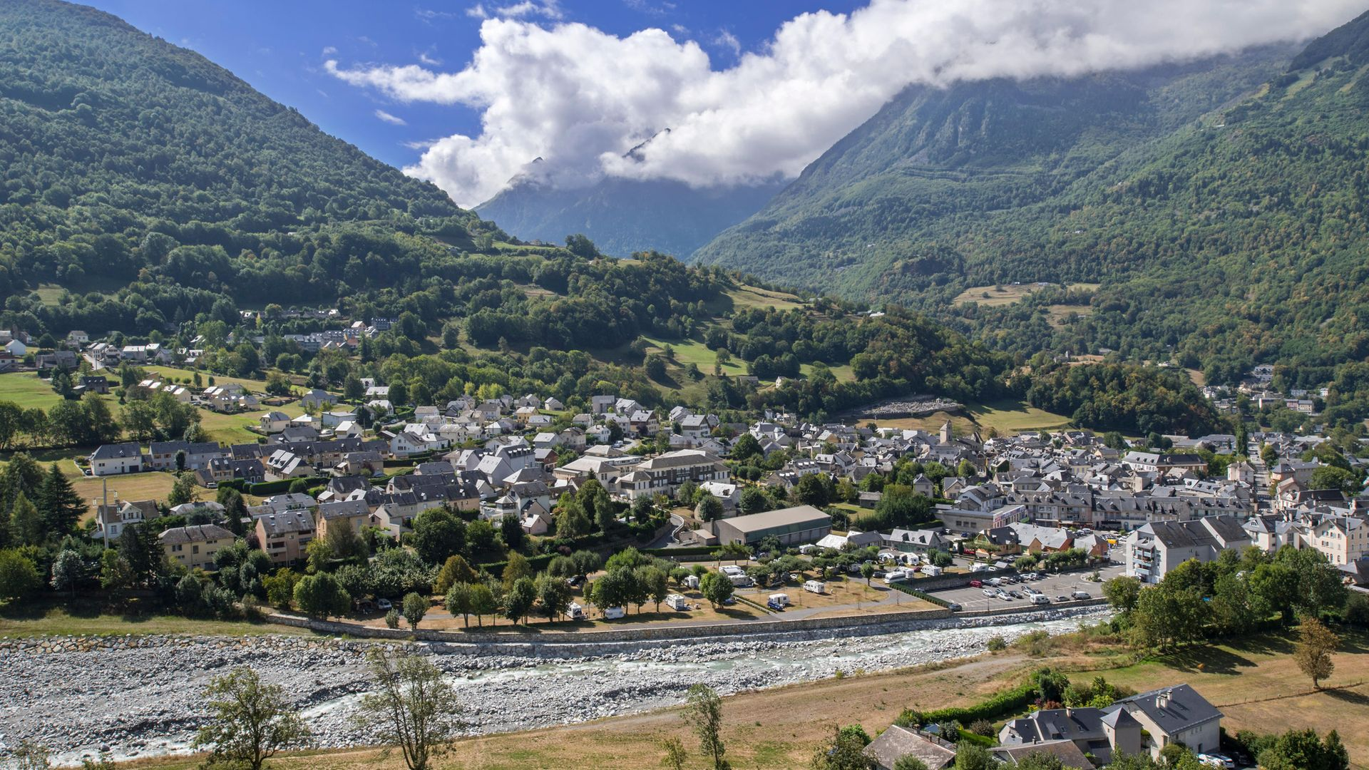 The village of Luz-Saint-Sauveur in the Hautes-Pyrenees, France; People Like Them is set in a similar mountain community - Credit: Universal Images Group via Getty