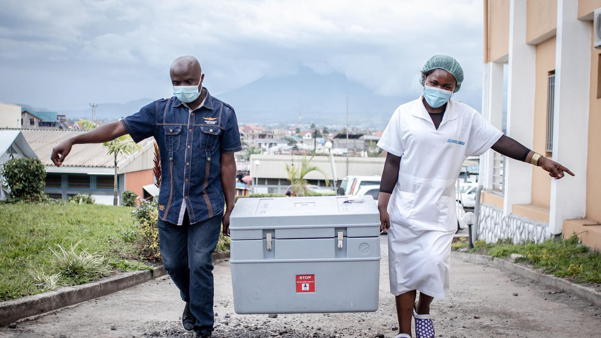 LEFT BEHIND: Health workers bring Covid-19 vaccines to a site in Goma, Democratic Republic of Congo. Africa has received only 2% of the vaccines administered globally - Credit: Getty Images