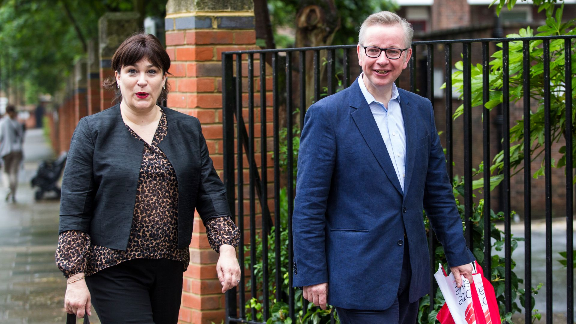 Michael Gove and Sarah Vine, seen in June 2016 - on their way to vote in the Brexit referendum - Credit: Getty Images