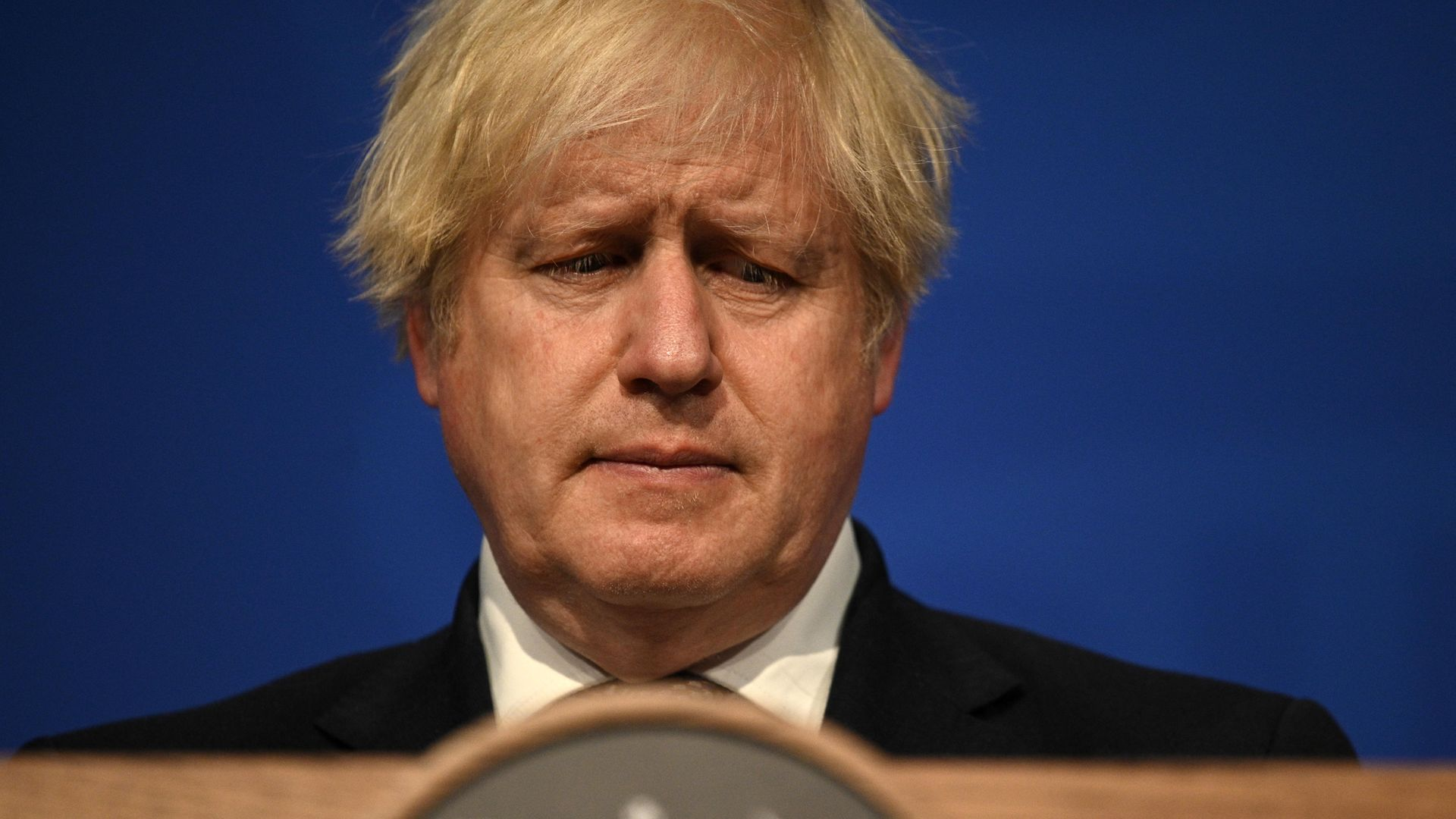Prime Minister Boris Johnson speaking during a media briefing in Downing Street - Credit: PA