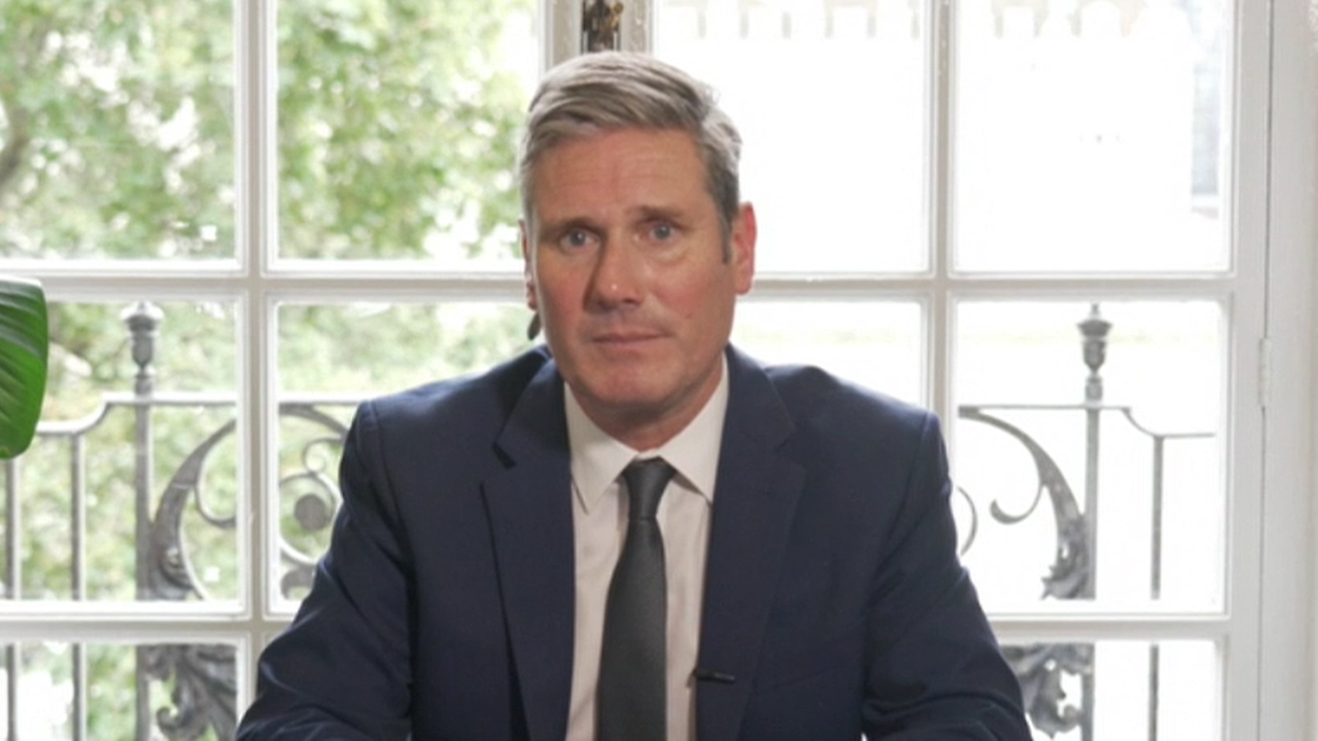 Keir Starmer addresses the nation in a televised address - Credit: BBC