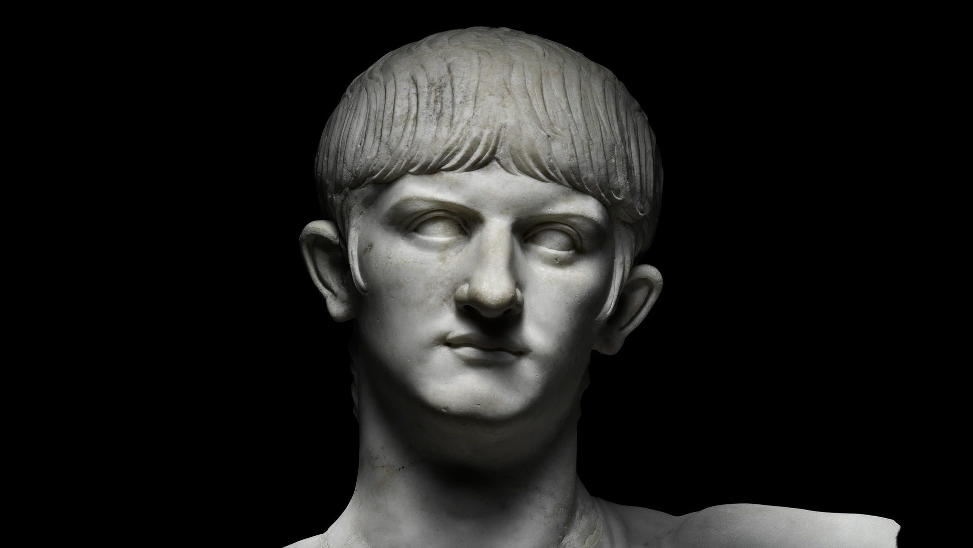 Marble bust of Nero. Italy, around AD 55.