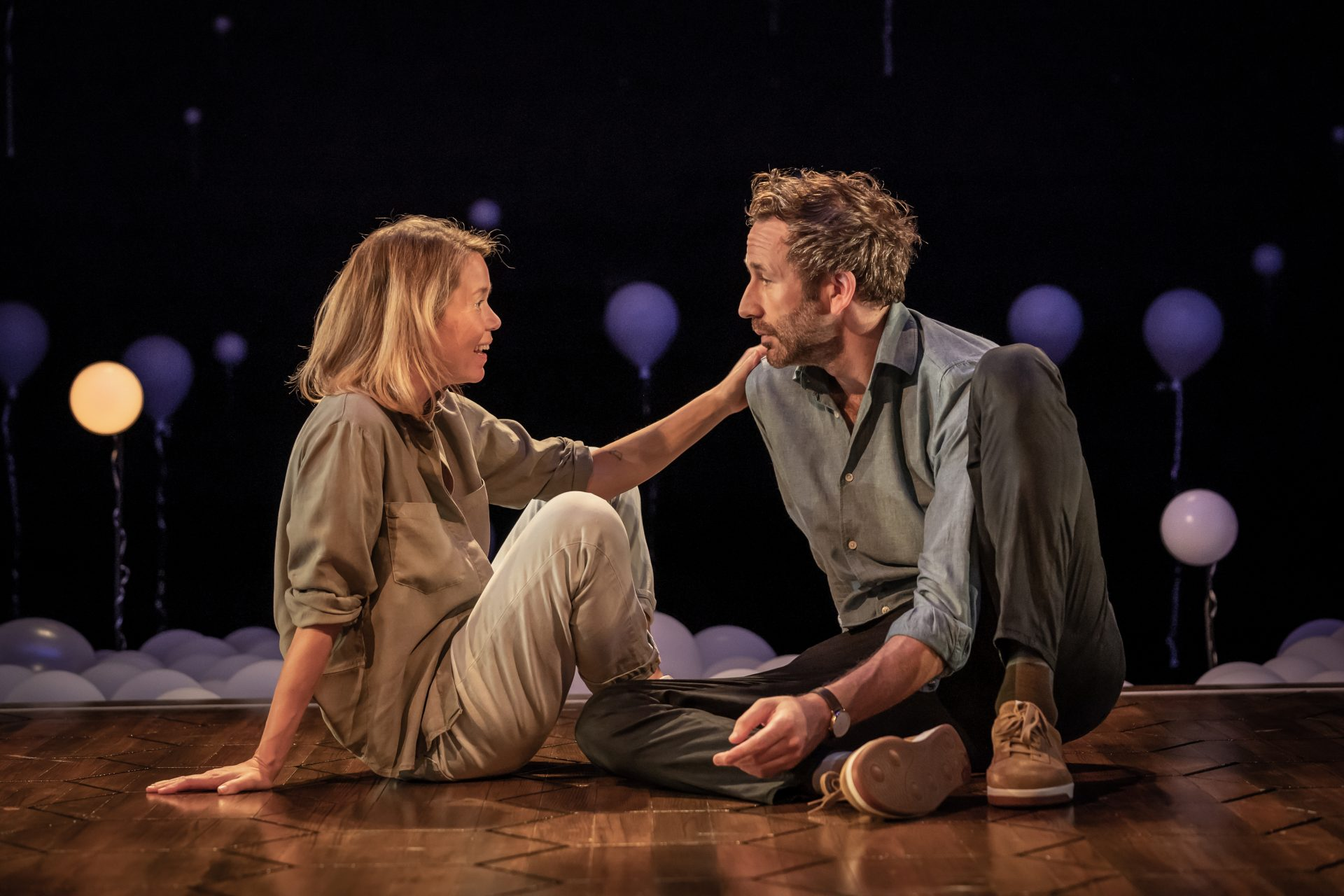 Anna Maxwell Martin and Chris O'Dowd in Constellations, which offers plenty of stars but not much of a picture Photo: Marc Brenner