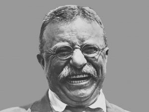 Theodore Roosevelt smiling - he is credited with formulating the Big Stick Ideology. Photo: John Parrot/Getty Images/Stocktrek Images