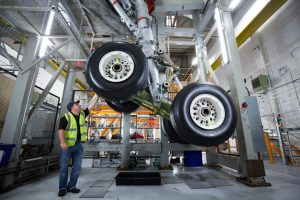 Landing gear is tested at Airbus' site at Filton, Bristol. Photo: Matt Cardy/Getty Images.