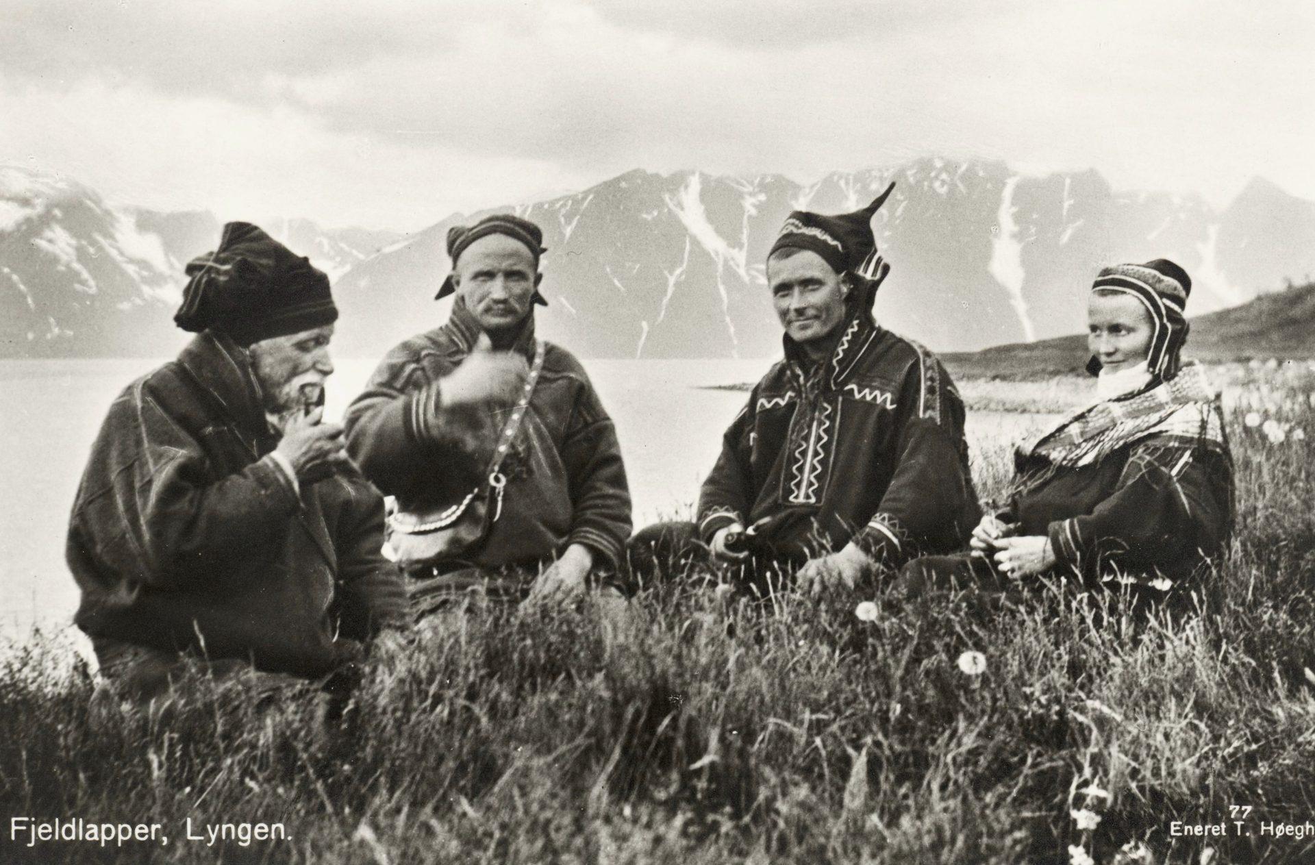 1928 Lyngen Troms Norway group Mountain Sami people. Credit: T. Høegh/Wikimedia Commons
