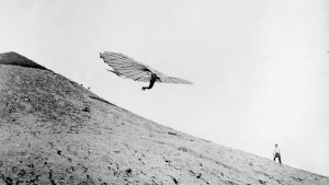 Otto Lilienthal airborne on one of his contraptions - Credit: Roger Viollet via Getty Images