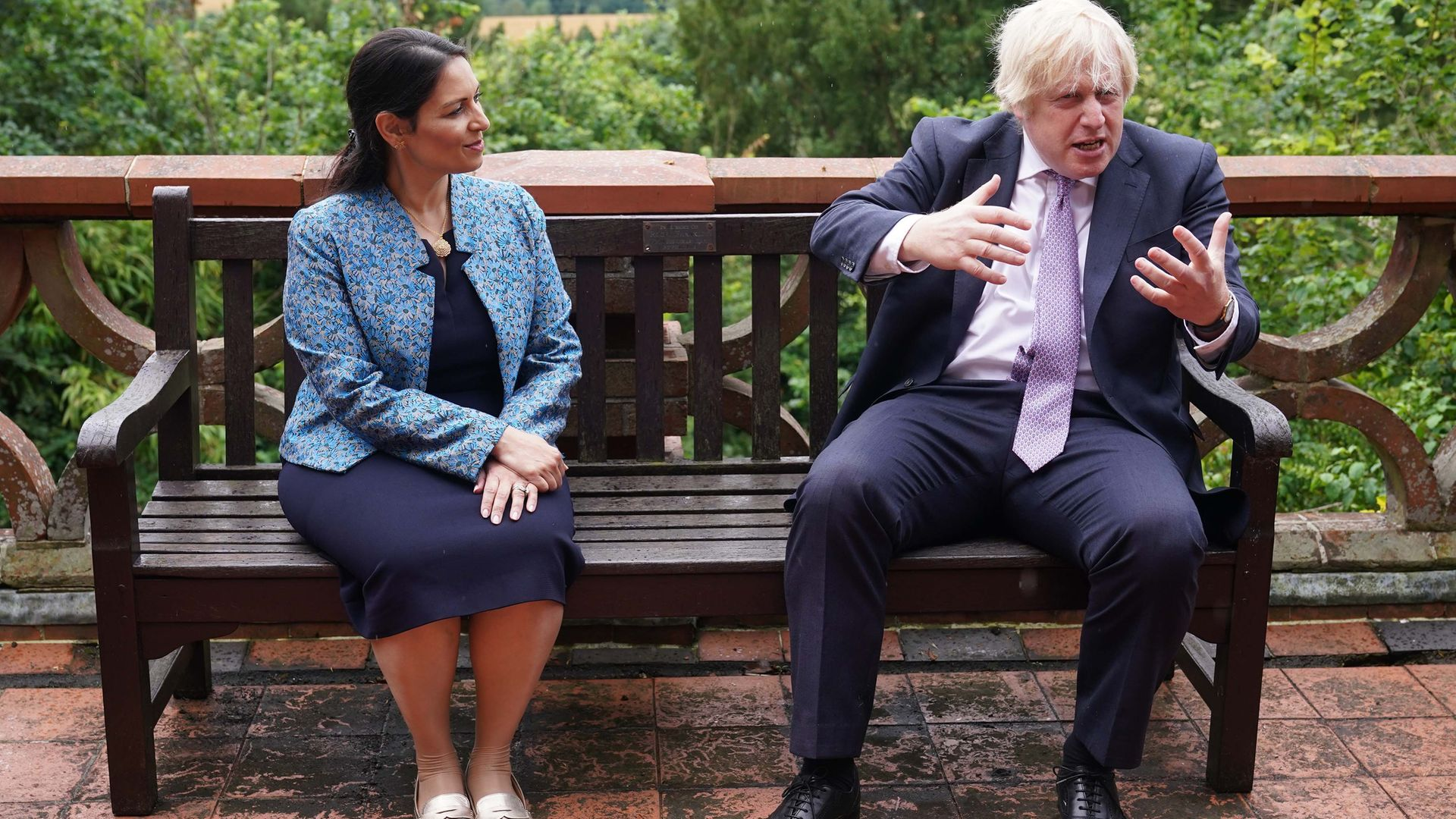 Priti Patel and Boris Johnson - both of whom have been criticised for their use of statistics - on a trip to Surrey Police HQ in July to talk about policing. Government claims over police numbers are among the numbers criticised
