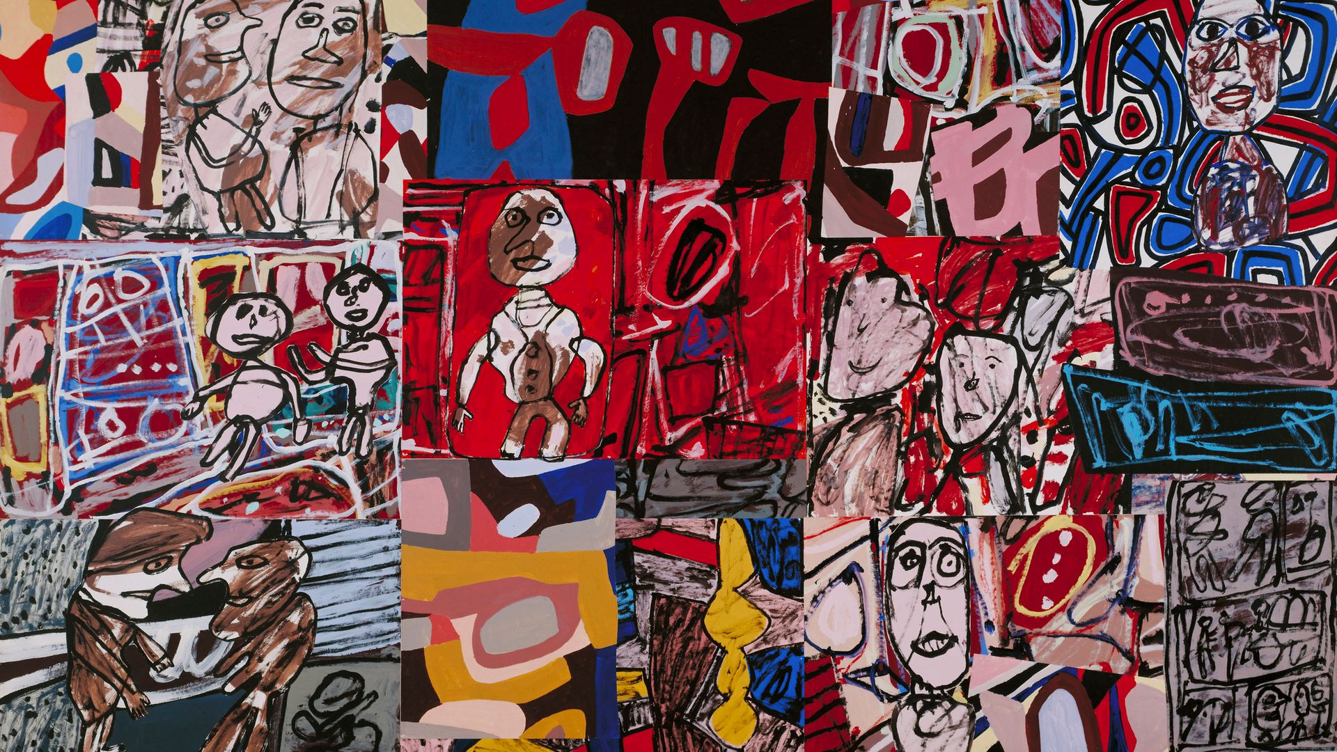 Jean Dubuffet's Vicissitudes (Les Vicissitudes) from January 1977, made by gluing together paintings on paper that had accumulated on the floor of his studio