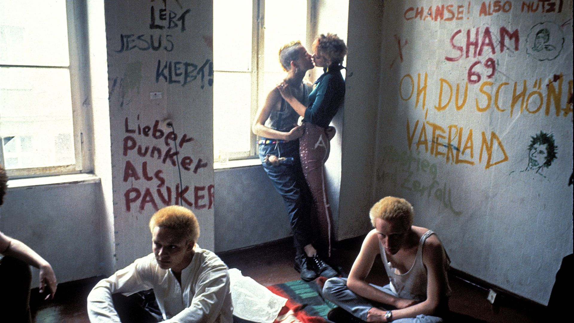An apartment squatted by a group of punks in East Berlin, 1982